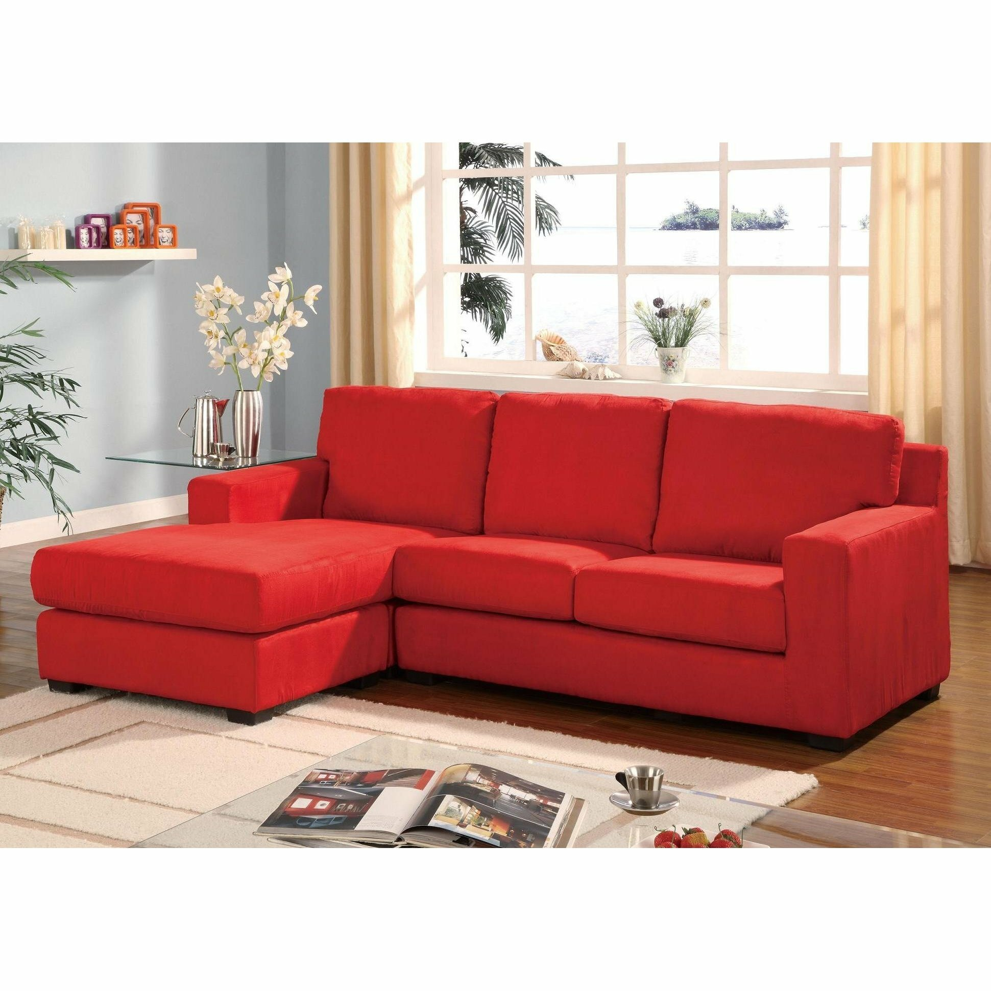 Sofas Red Sectional Sofa
