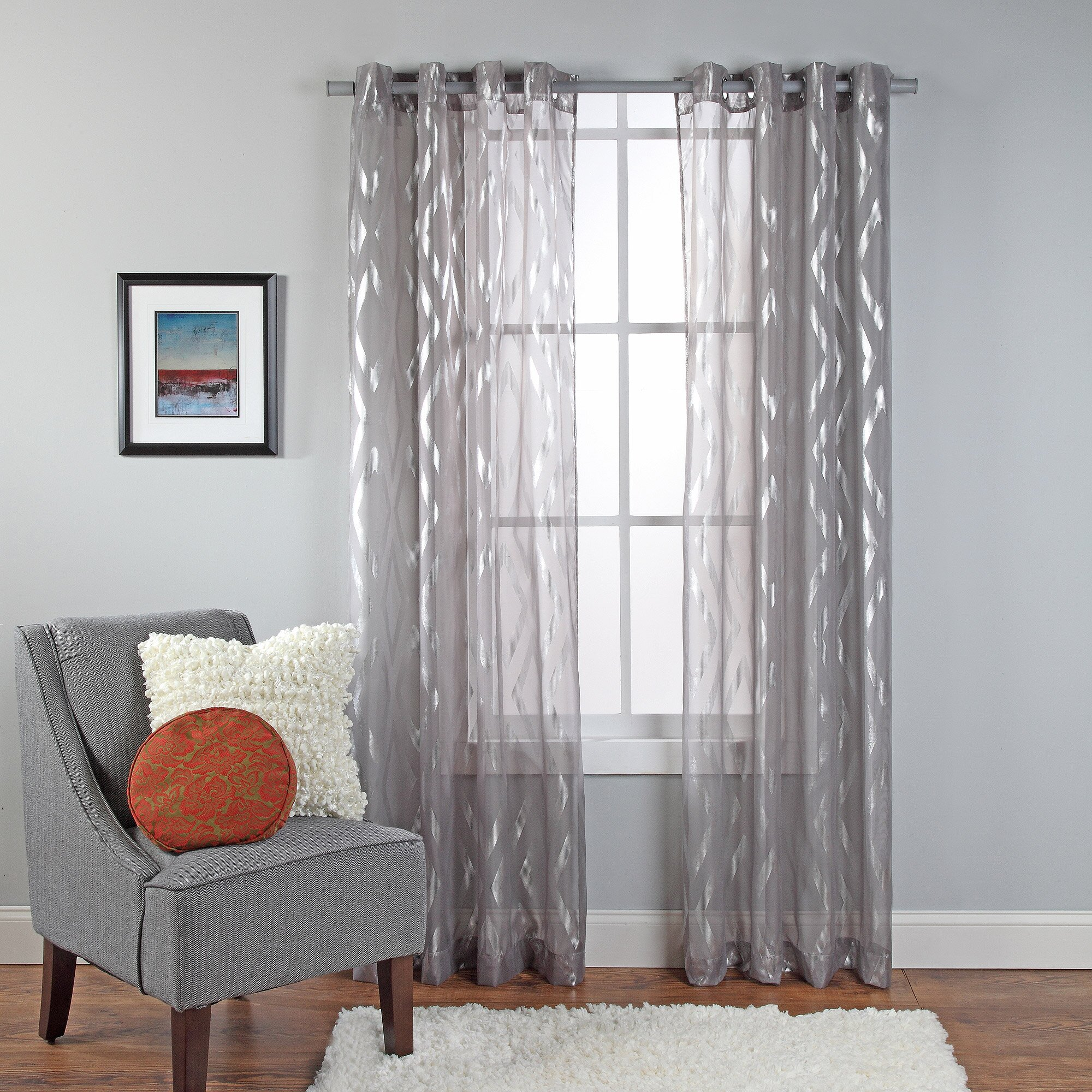 Brown Sheer Curtains Walmart