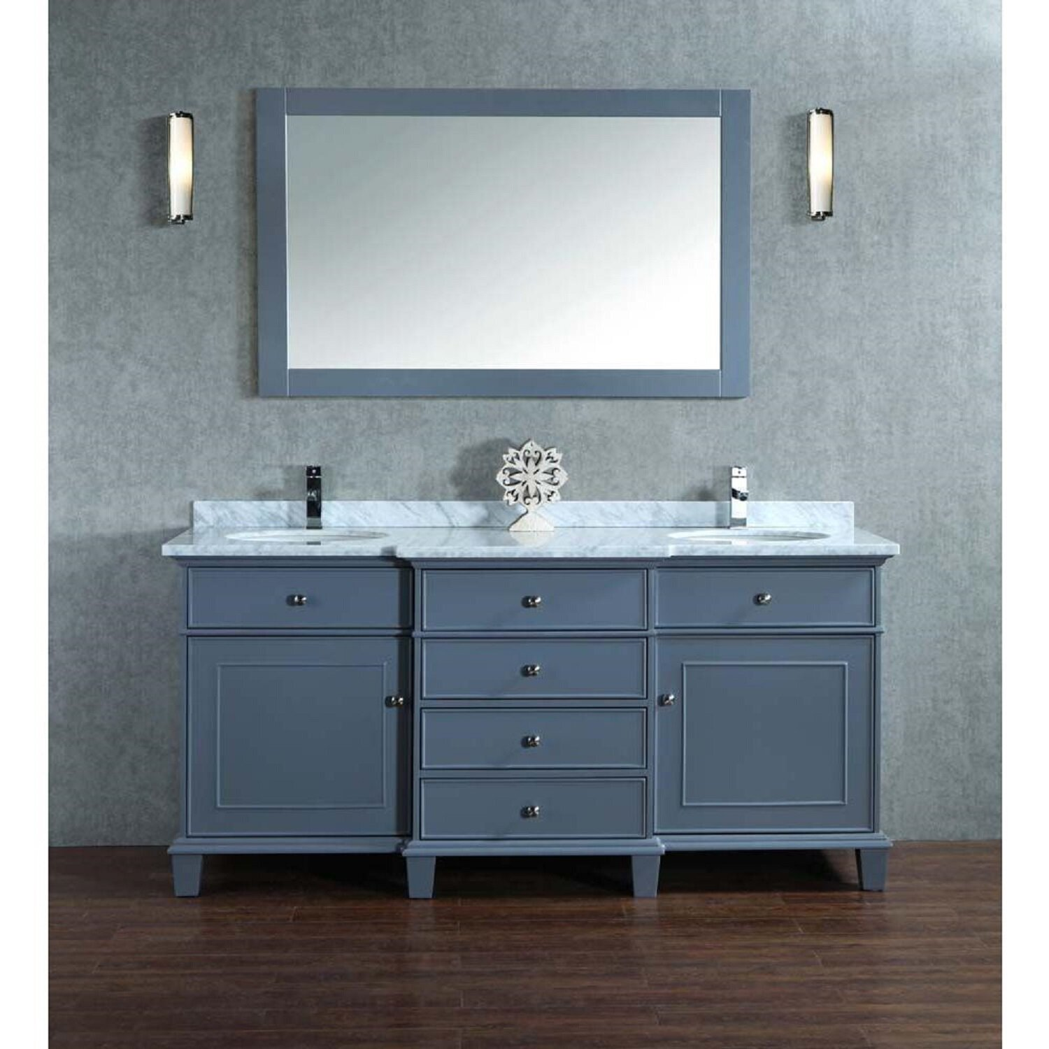 Bathroom Exciting 60 Inch Vanity Double Sink For Modern