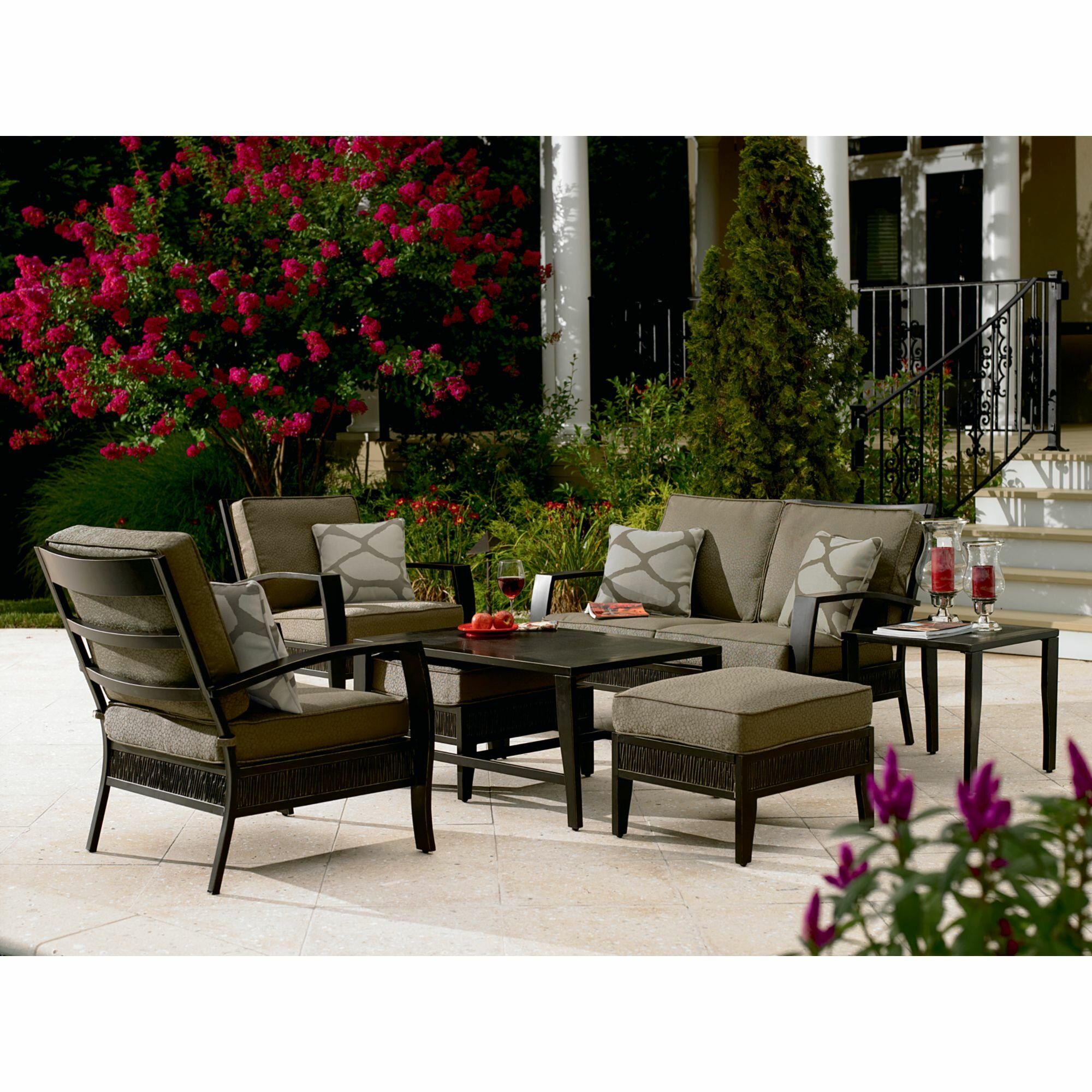 Sears patio furniture sets clearance for Patio couches for sale