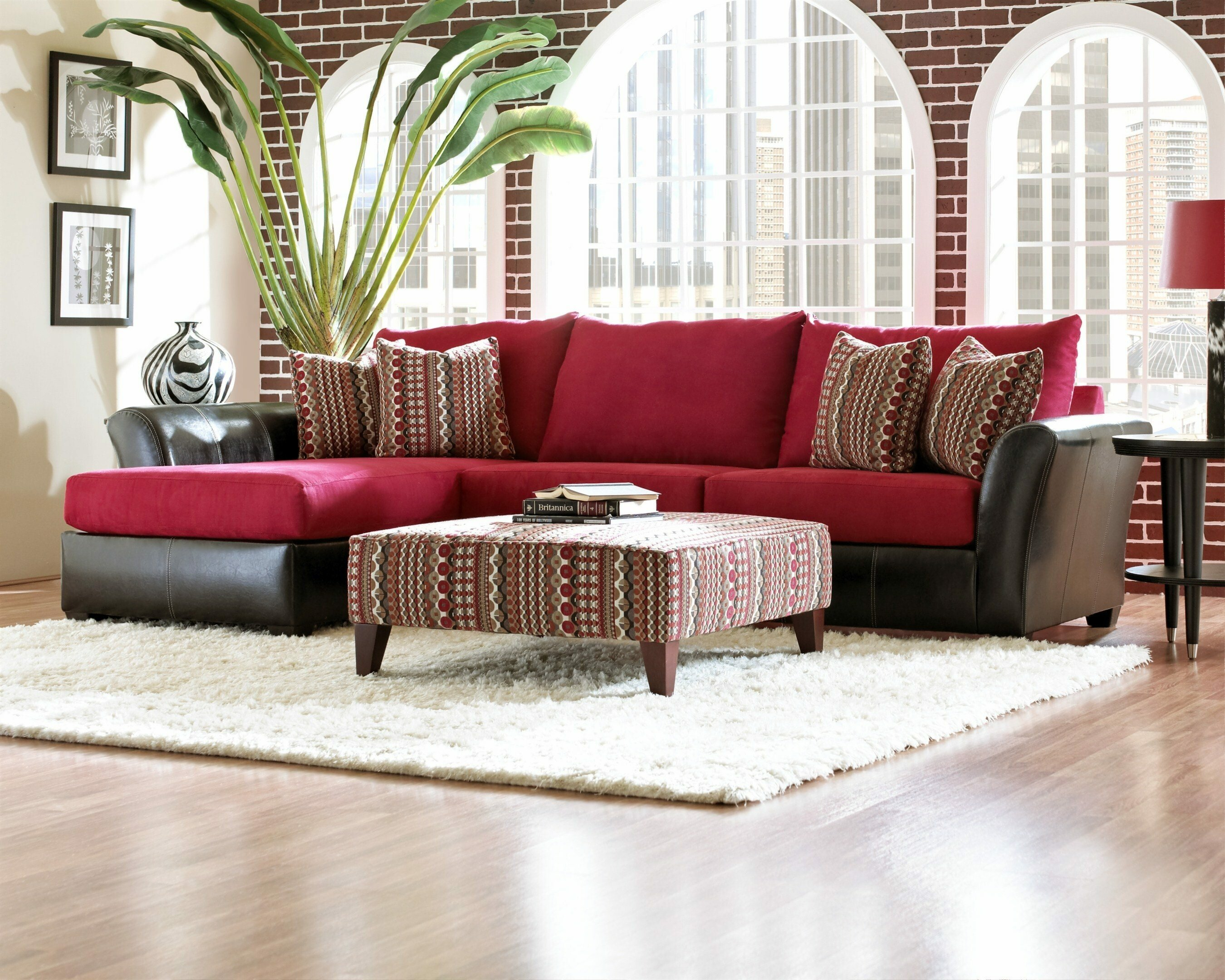 Red Sectional Sofa | Sofa Chaise Lounge Sectional | Colored Sectionals
