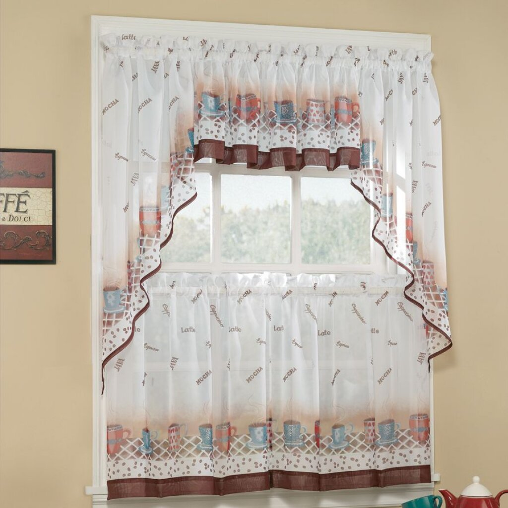 White Cafe Curtain | Cafe Curtains Target | Kitchen Curtain Sets Clearance