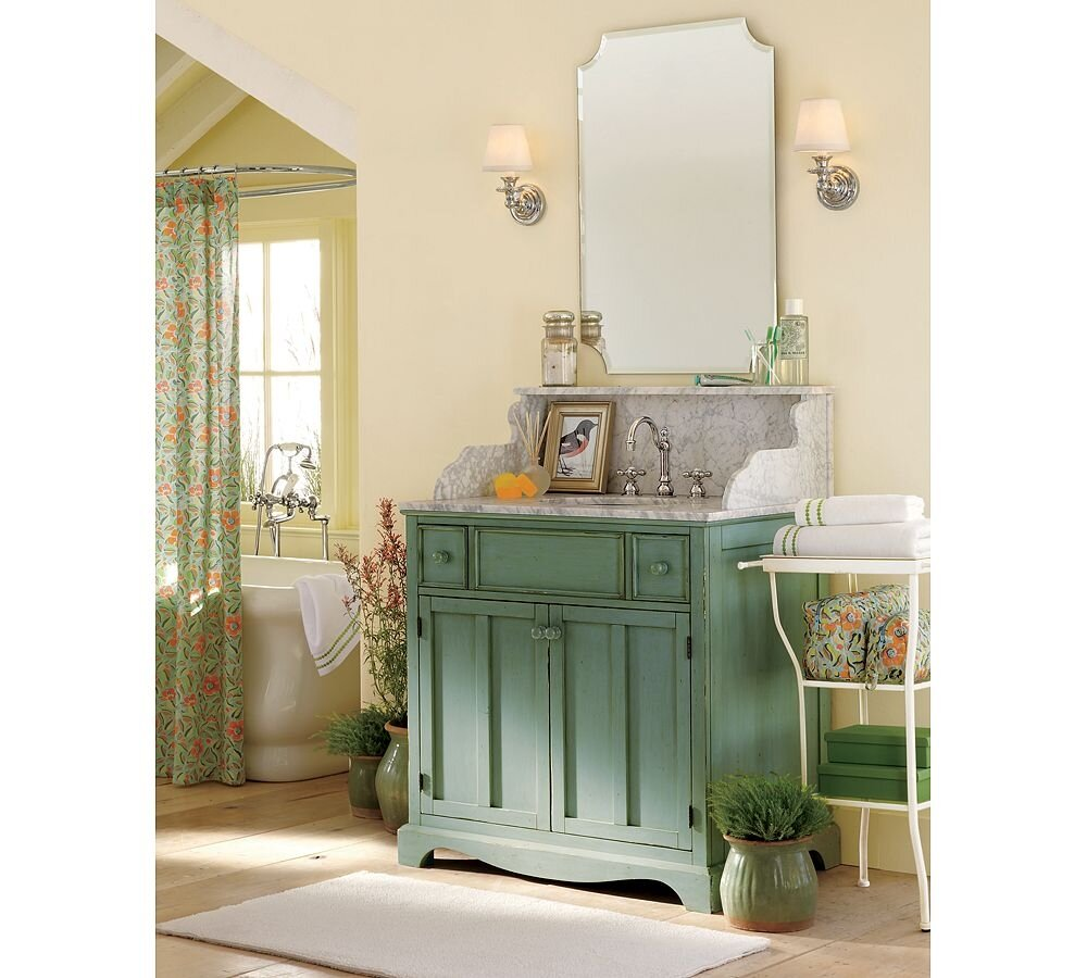 54 Inch Bathroom Vanity Single Sink | Navy Bathroom Vanity | Pottery Barn Vanity