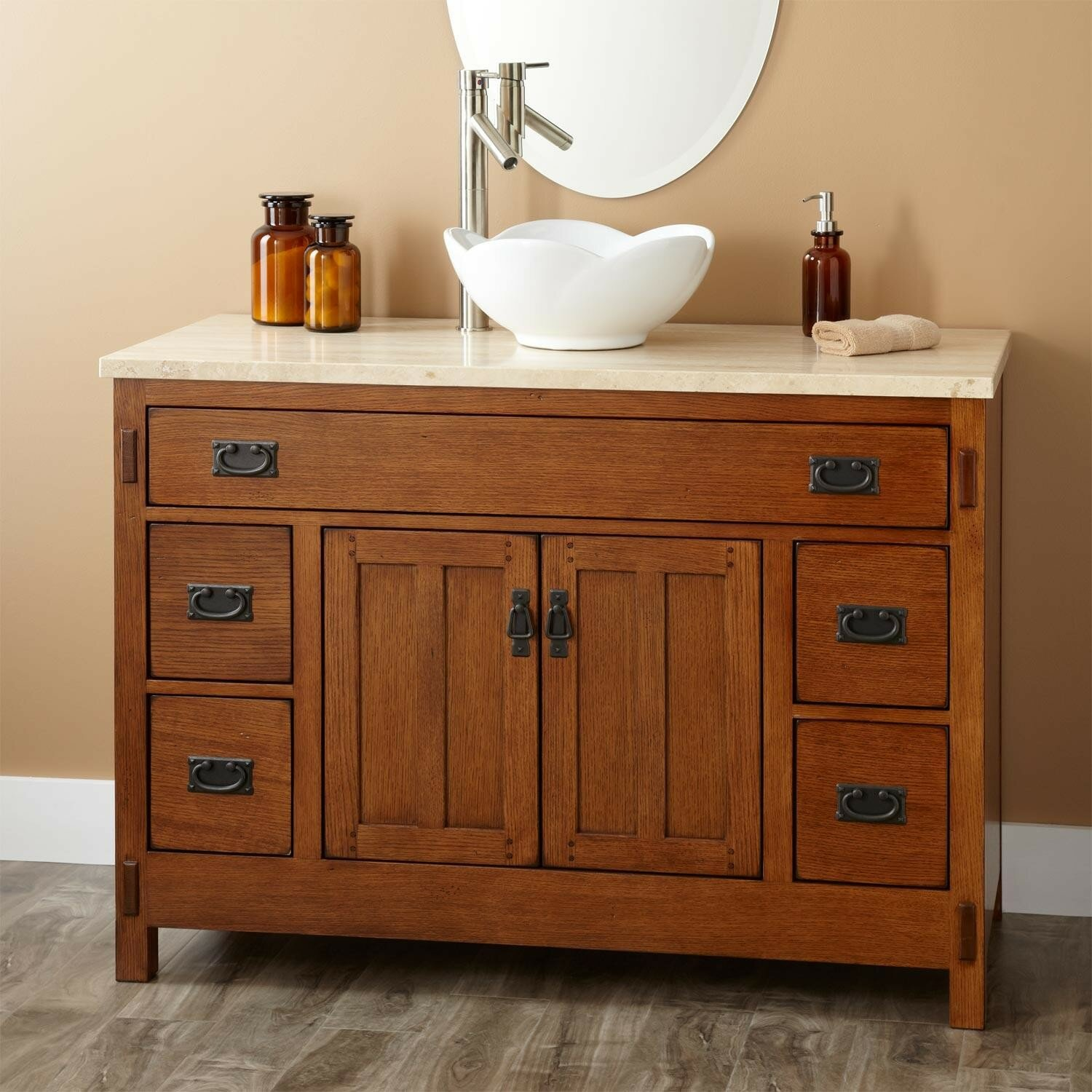 54 Inch Bathroom Vanity Single Sink | Pottery Barn Vanity | Pottery Barn  Newport Vanity