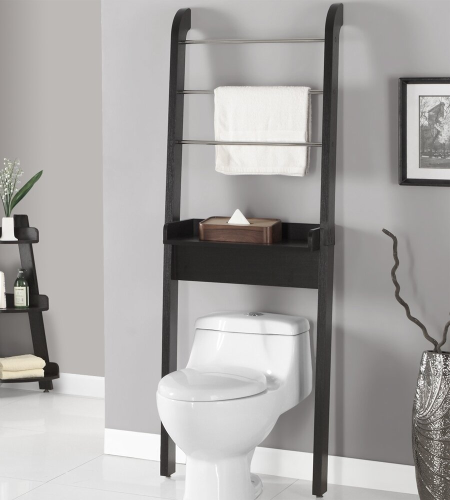 Bathroom interesting toilet etagere for your bathroom for Bathroom decor and storage