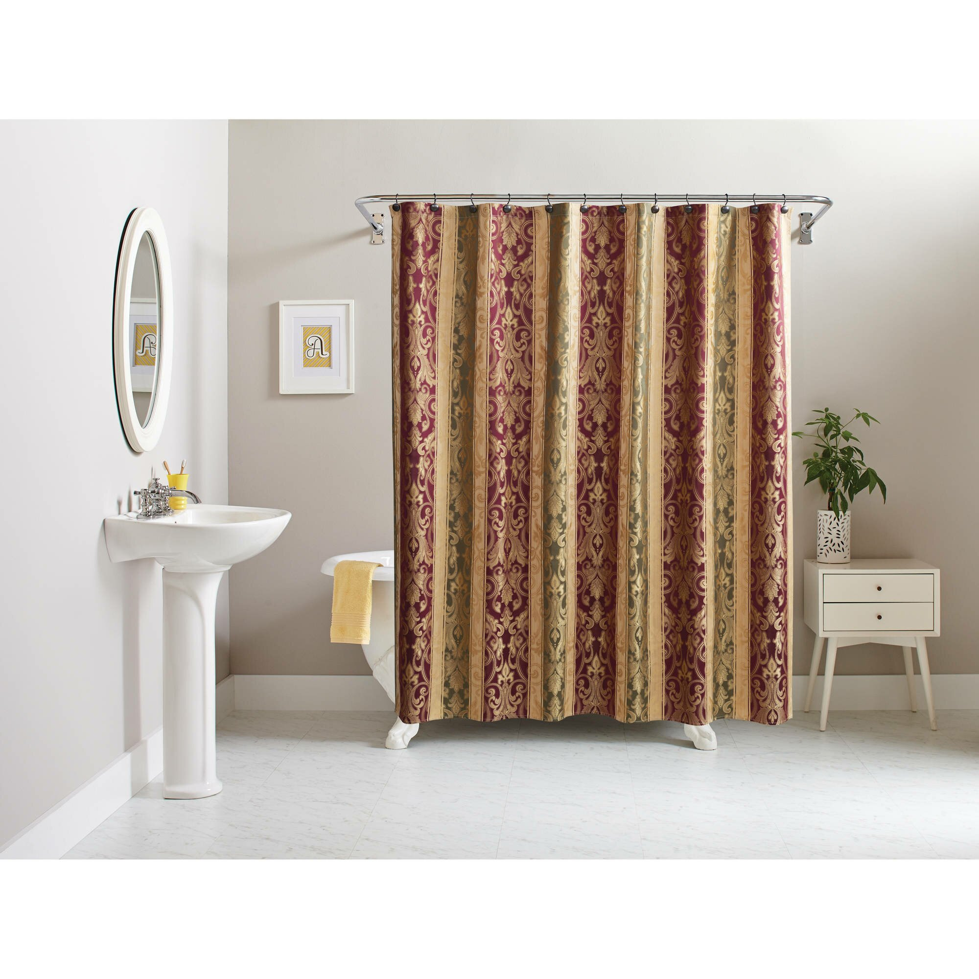 Bathroom Curtains Walmart | Walmart Shower Curtain | Matching Shower and Window Curtain Sets