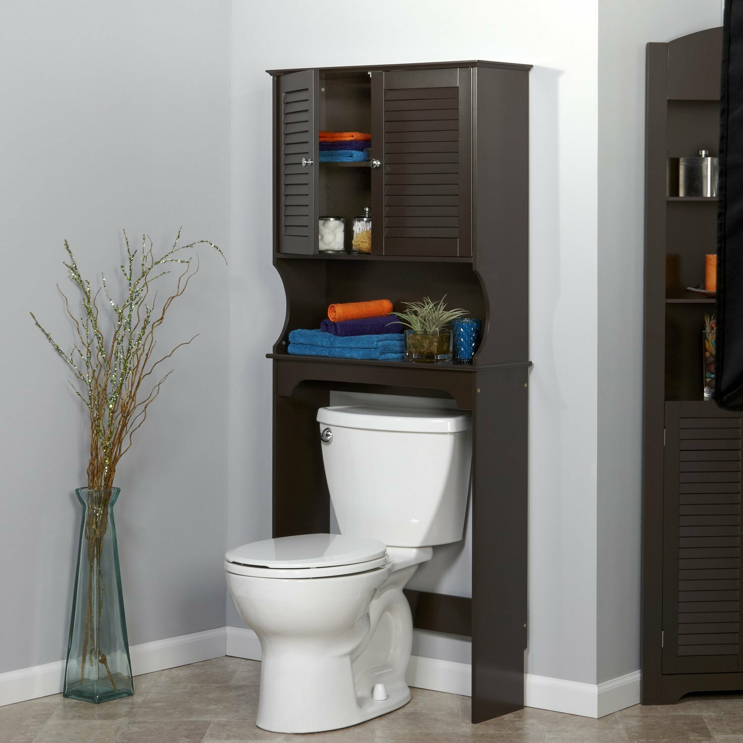 bathroom shelves l over saver etagere toilet nobailout space
