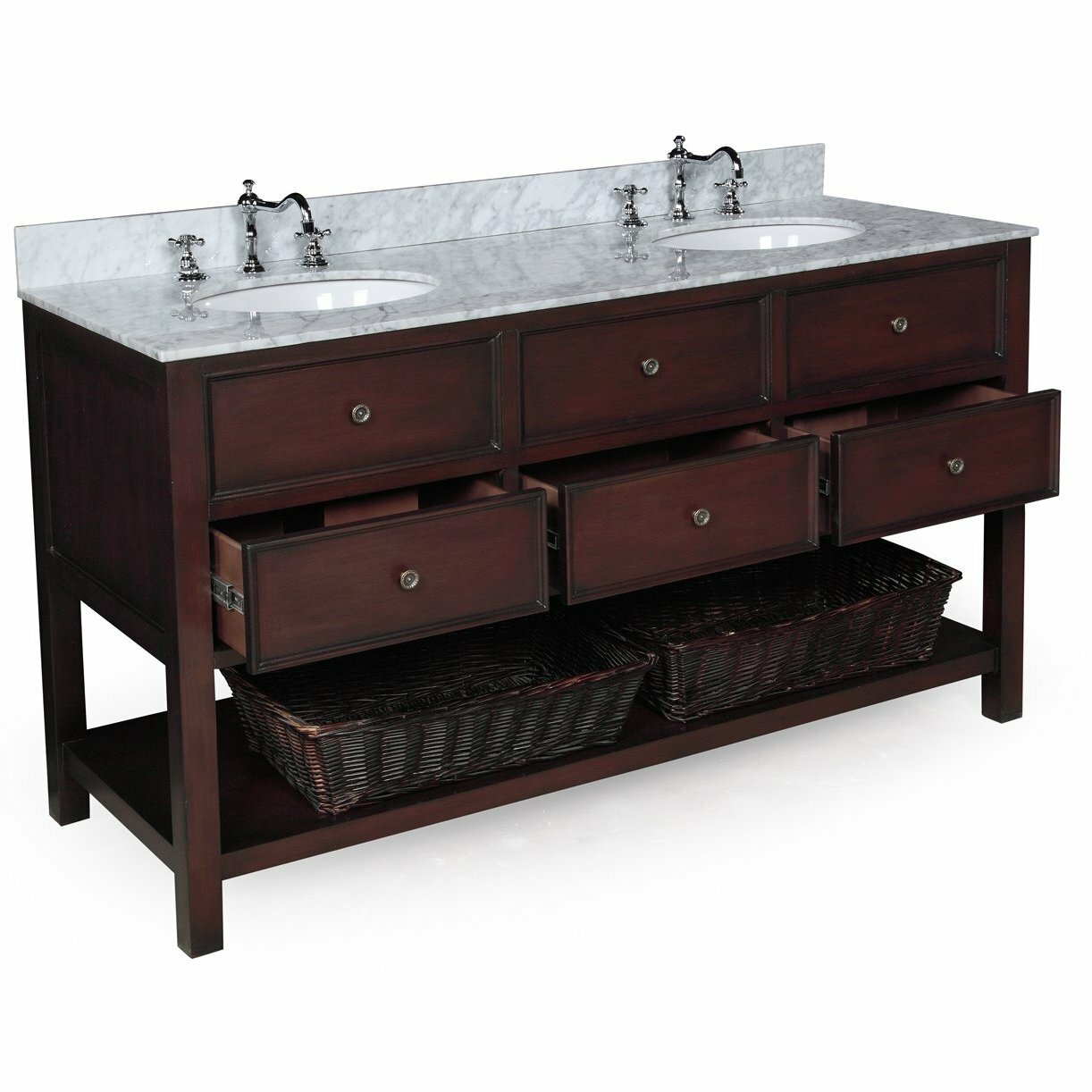 Bathroom Sinks And Cabinets | Pottery Barn Vanity | Pottery Barn Single Sink Vanity