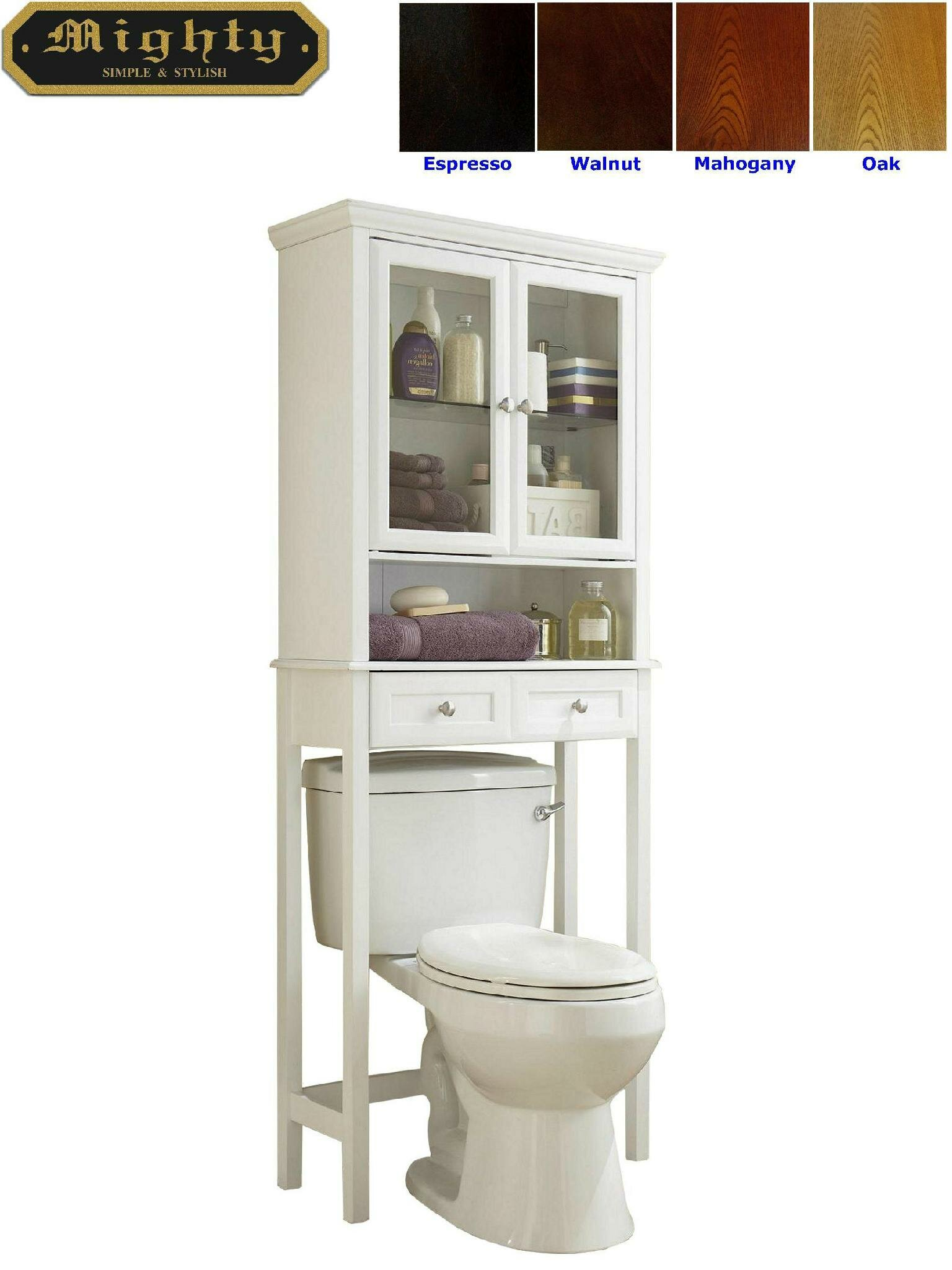 Bathroom metal etagere bathroom toilet etagere space for Toilet furniture cabinet