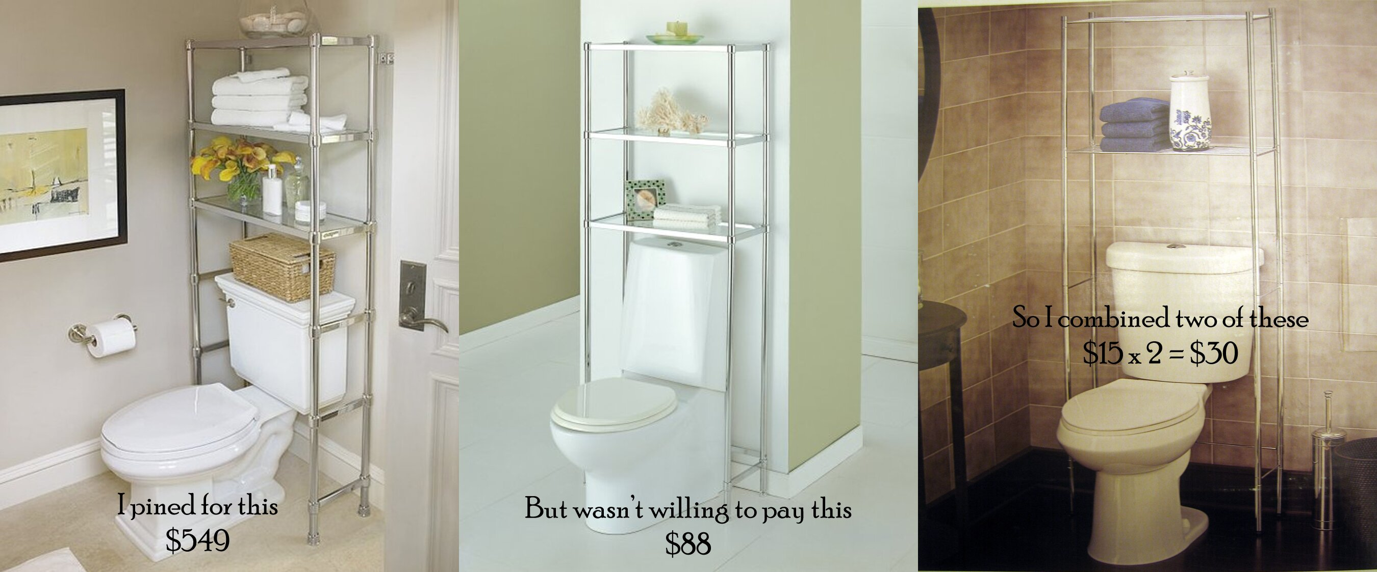 Bathroom Toilet Etagere Bathroom Storage Space Saver