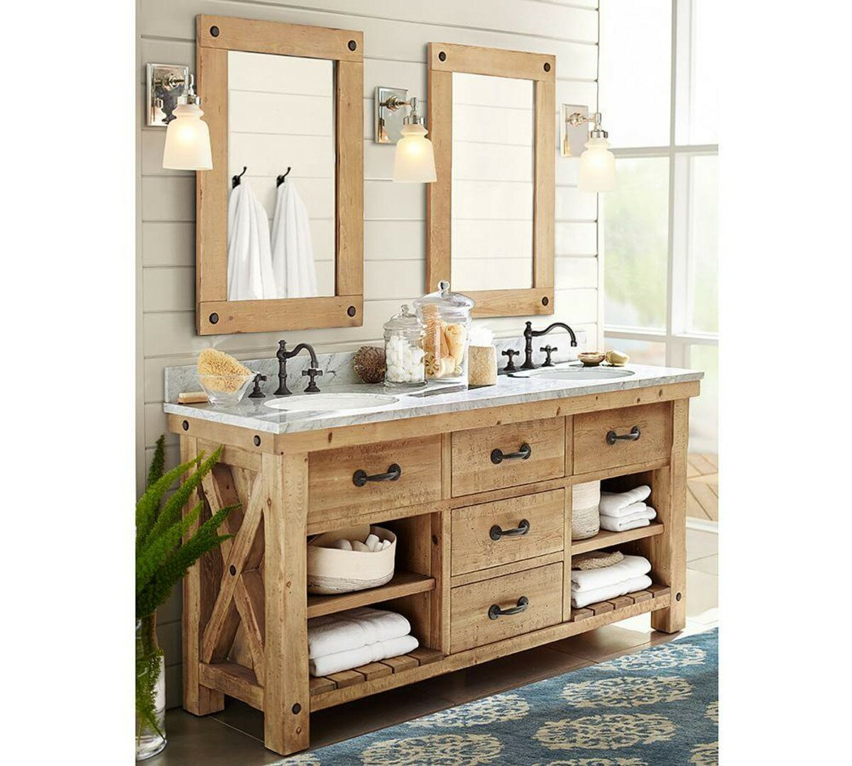 Bathroom Vanities With Sinks Pottery Barn Vanity Bathrrom Vanity. Furniture  Beautiful Farmhouse ...