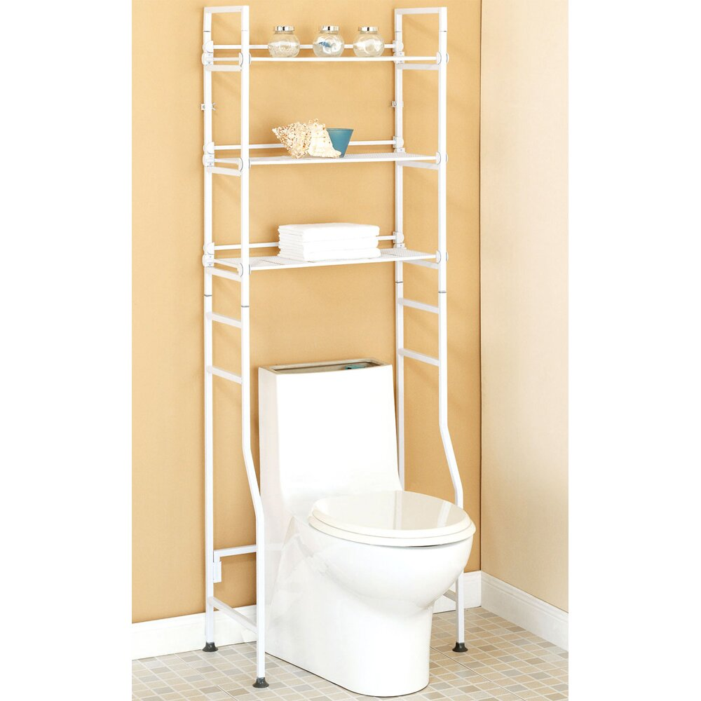 Black Over The Toilet Space Saver | Etagere Cabinet | Toilet Etagere