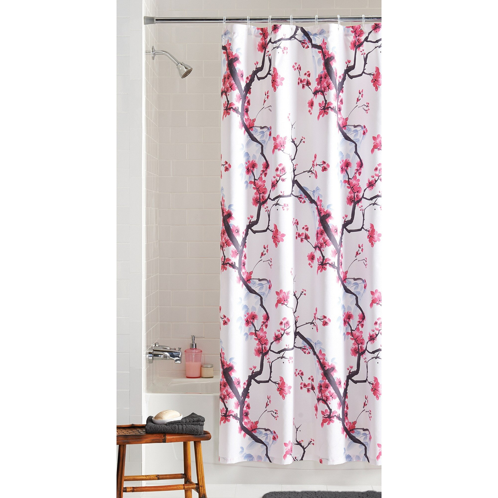 Cheap Fabric Shower Curtain | Walmart Shower Curtain | Bathroom Curtains Walmart