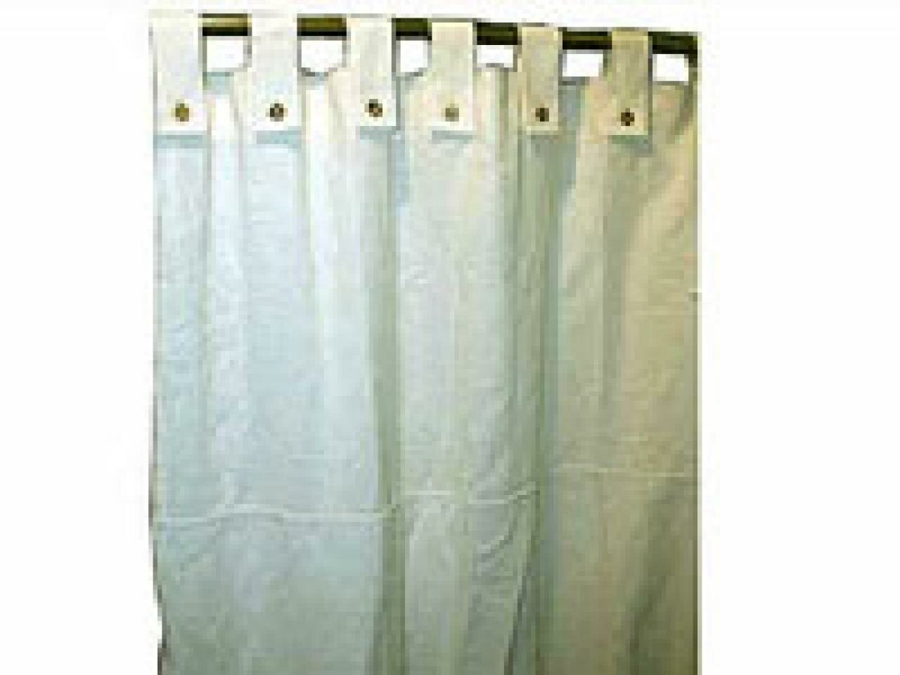 Chrome Shower Rod | Sage Shower Curtain | Restoration Hardware Shower Curtain