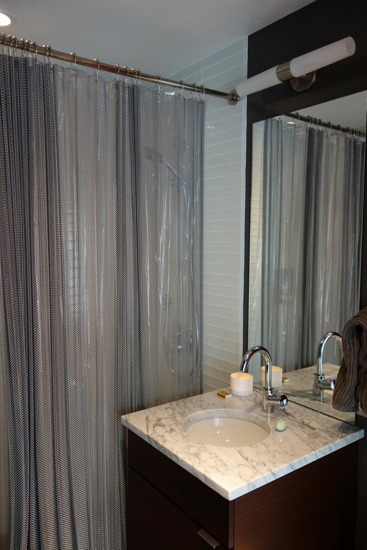 Cotton Shower Curtain | Restoration Hardware Shower Curtain | 84in Shower Curtain