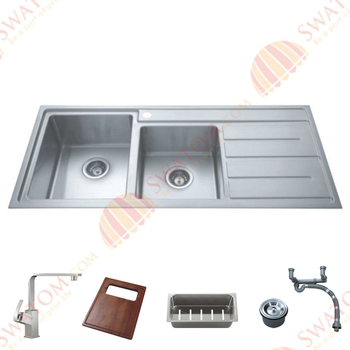 Cozy Kitchen Sinks Stainless Steel for Traditional Kitchen Design: Kitchen Sinks Stainless Steel | Corner Stainless Steel Kitchen Sink | Ss Kitchen Sink