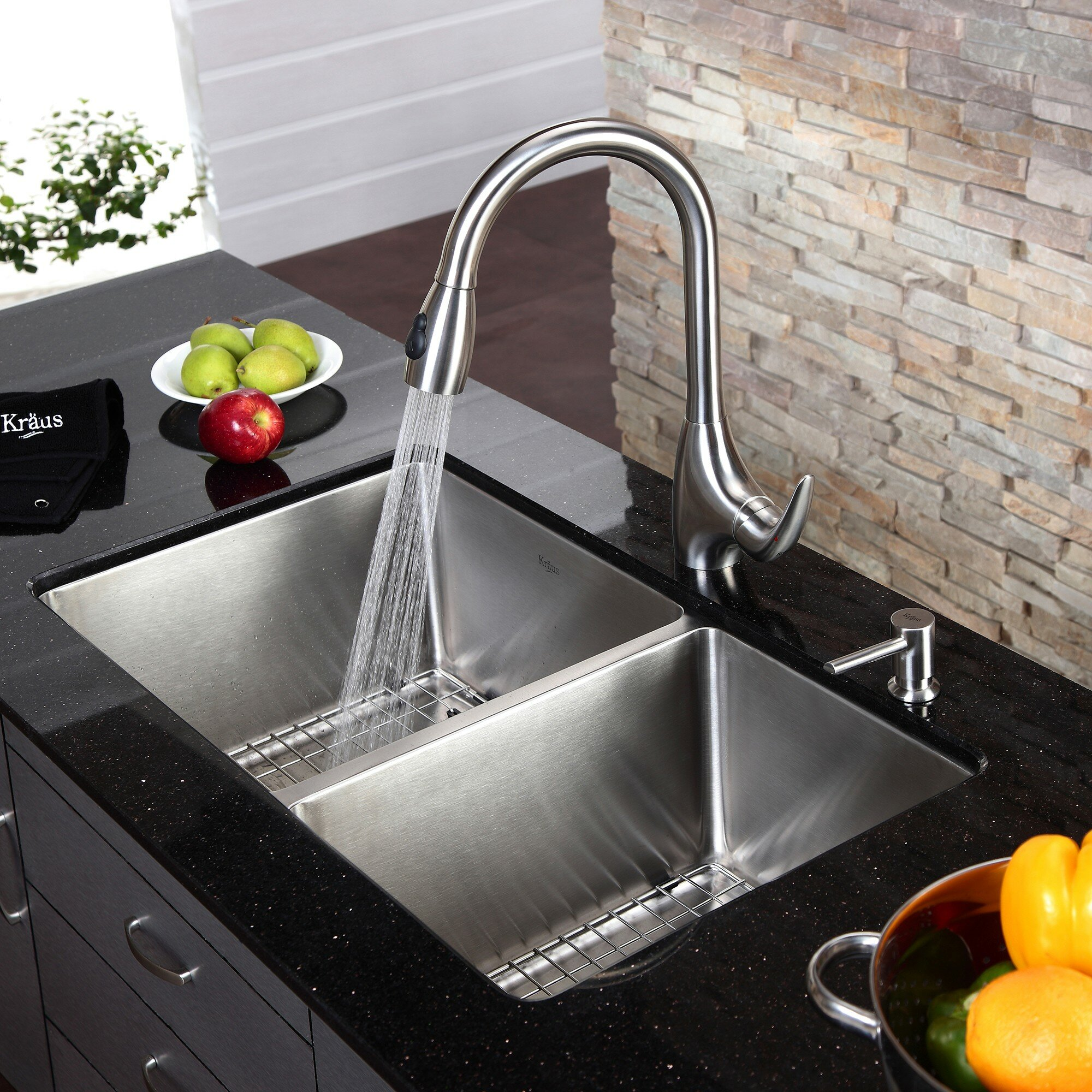 Kitchen Sinks Stainless Steel Single Sink Brushed Undermount