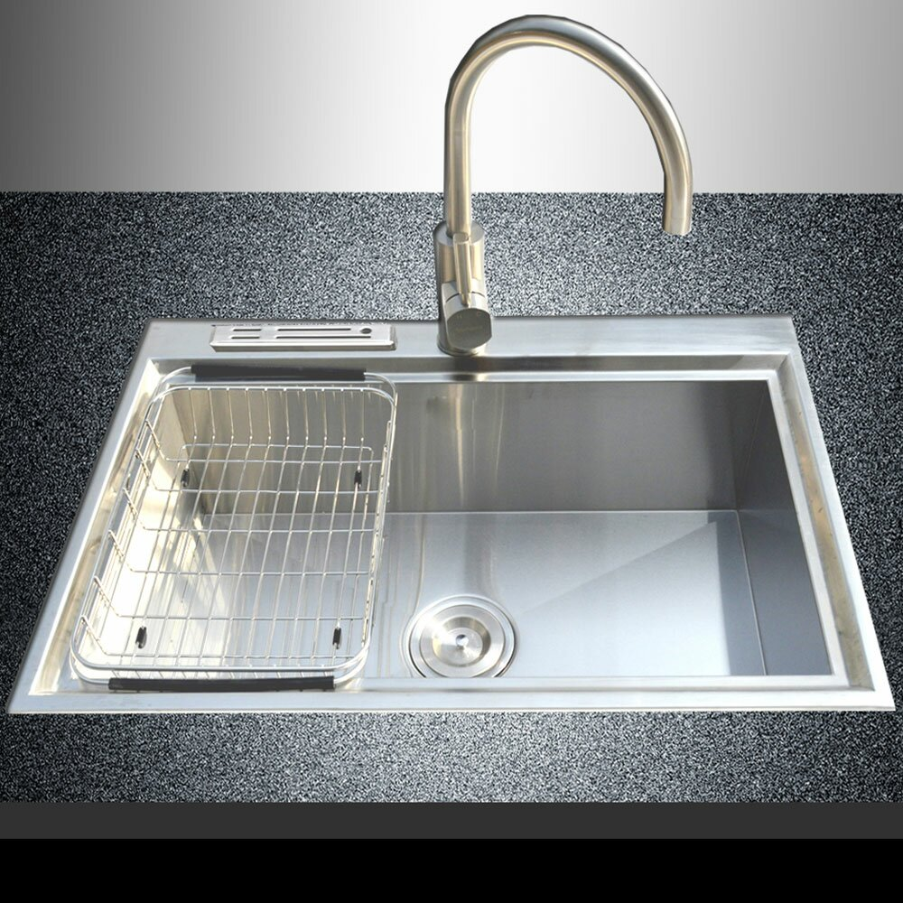 Cozy Kitchen Sinks Stainless Steel for Traditional Kitchen Design: Kitchen Sinks Stainless Steel | Stainless Steel Kitchen Sinks With Drainboards | Double Stainless Kitchen Sink