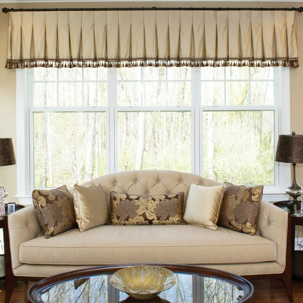 Valance Curtains Living Room Interior Design