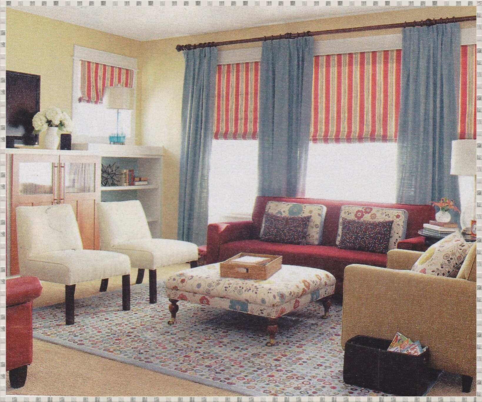 Living Room Drapes and Valances | Window Curtain Toppers | Living Room Valances