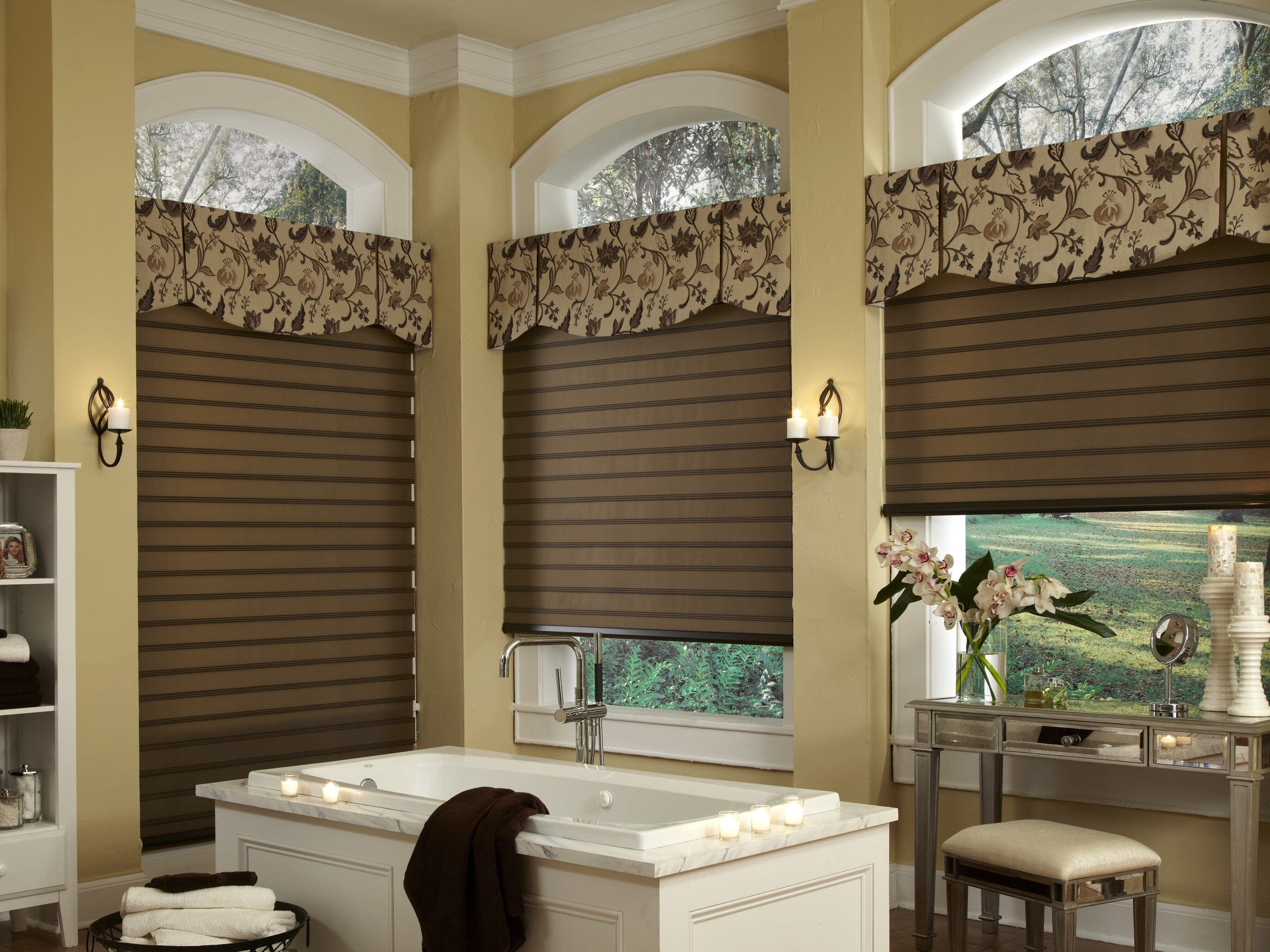 Living Room Valances | Living Room Curtains with Valance | Dining Room Valance