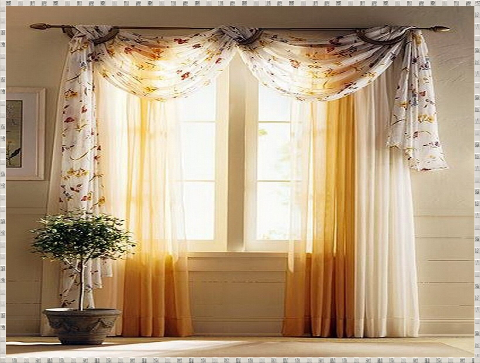 Living Room Valances | Window Curtains and Valances | Valance Windows