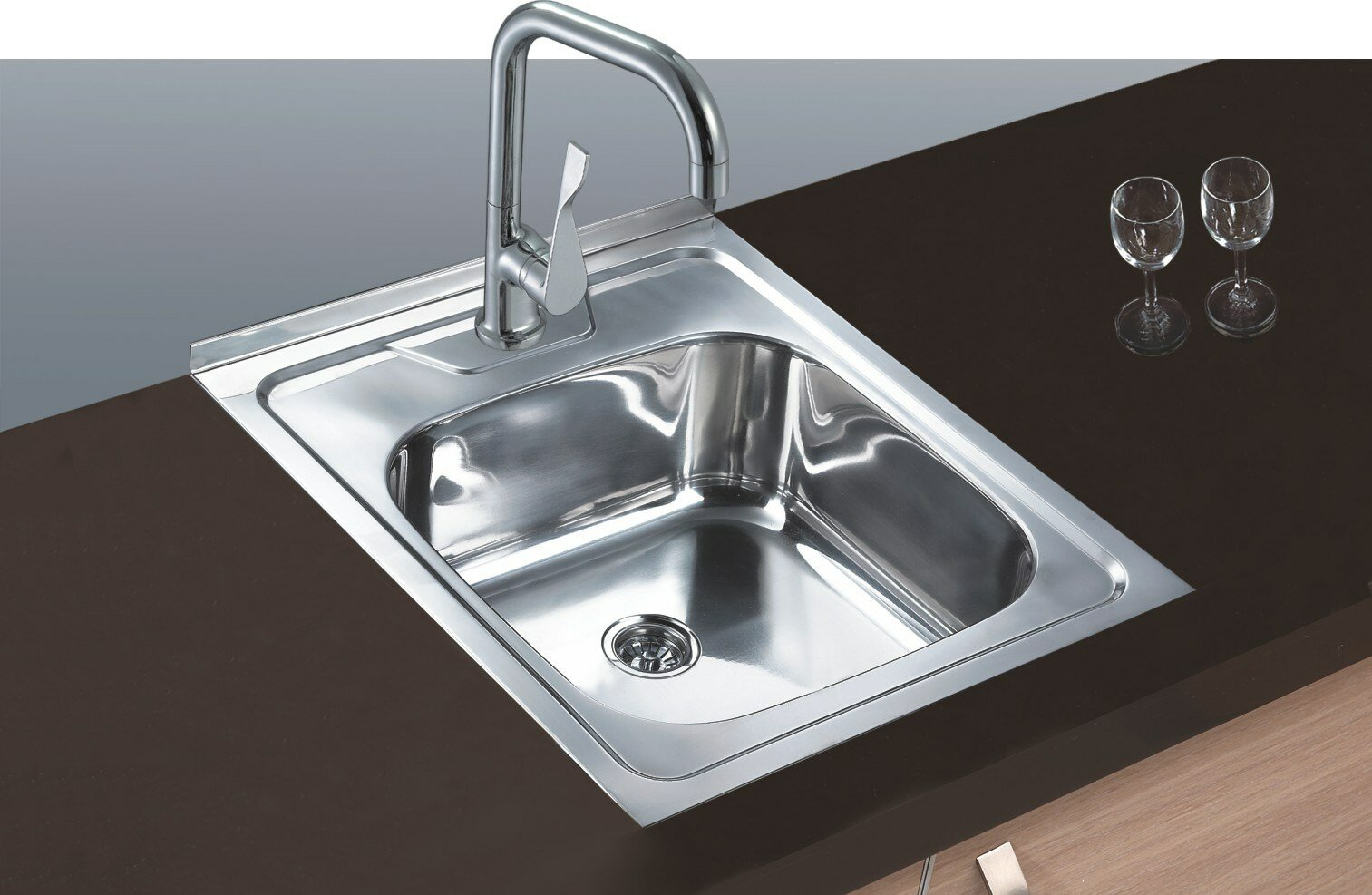 Cozy Kitchen Sinks Stainless Steel for Traditional Kitchen Design: Metal Kitchen Sinks | Kitchen Sinks Stainless Steel | One Bowl Stainless Steel Kitchen Sinks