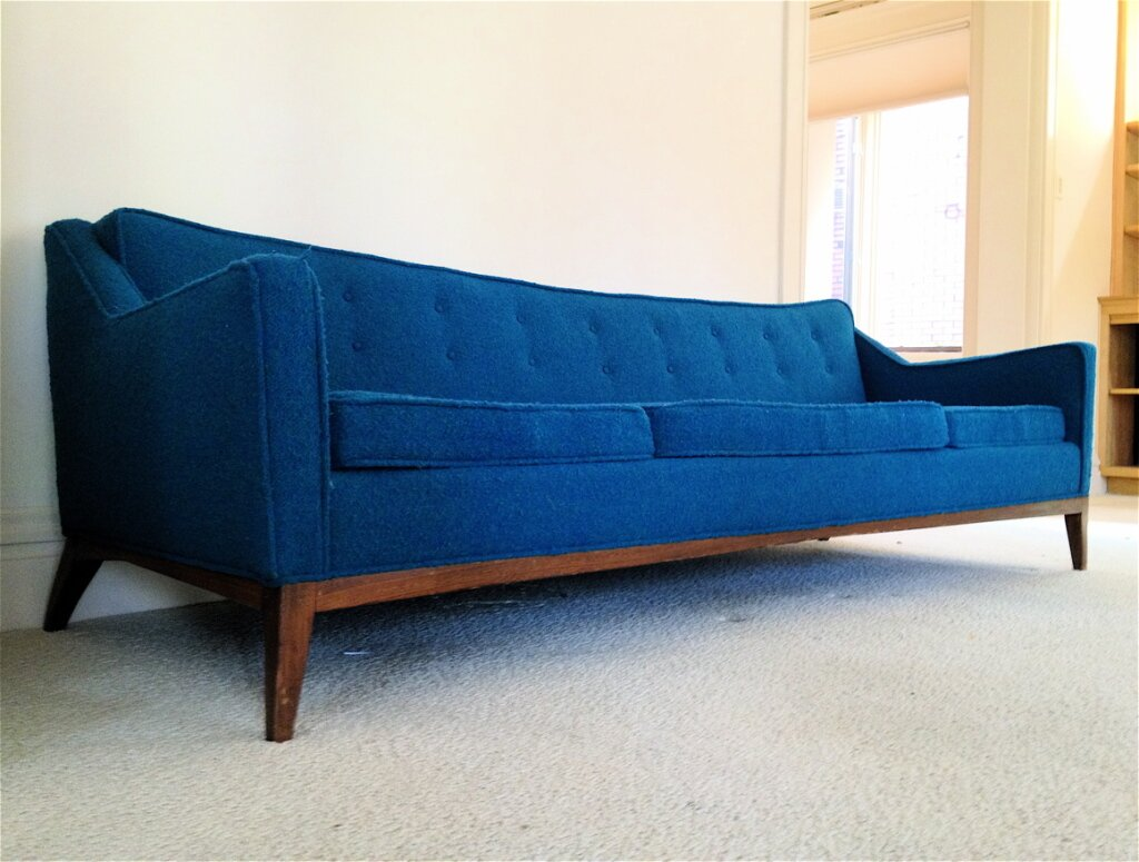 Century sofas monroe mid century sofa celestial blue er for Cheap modern furniture
