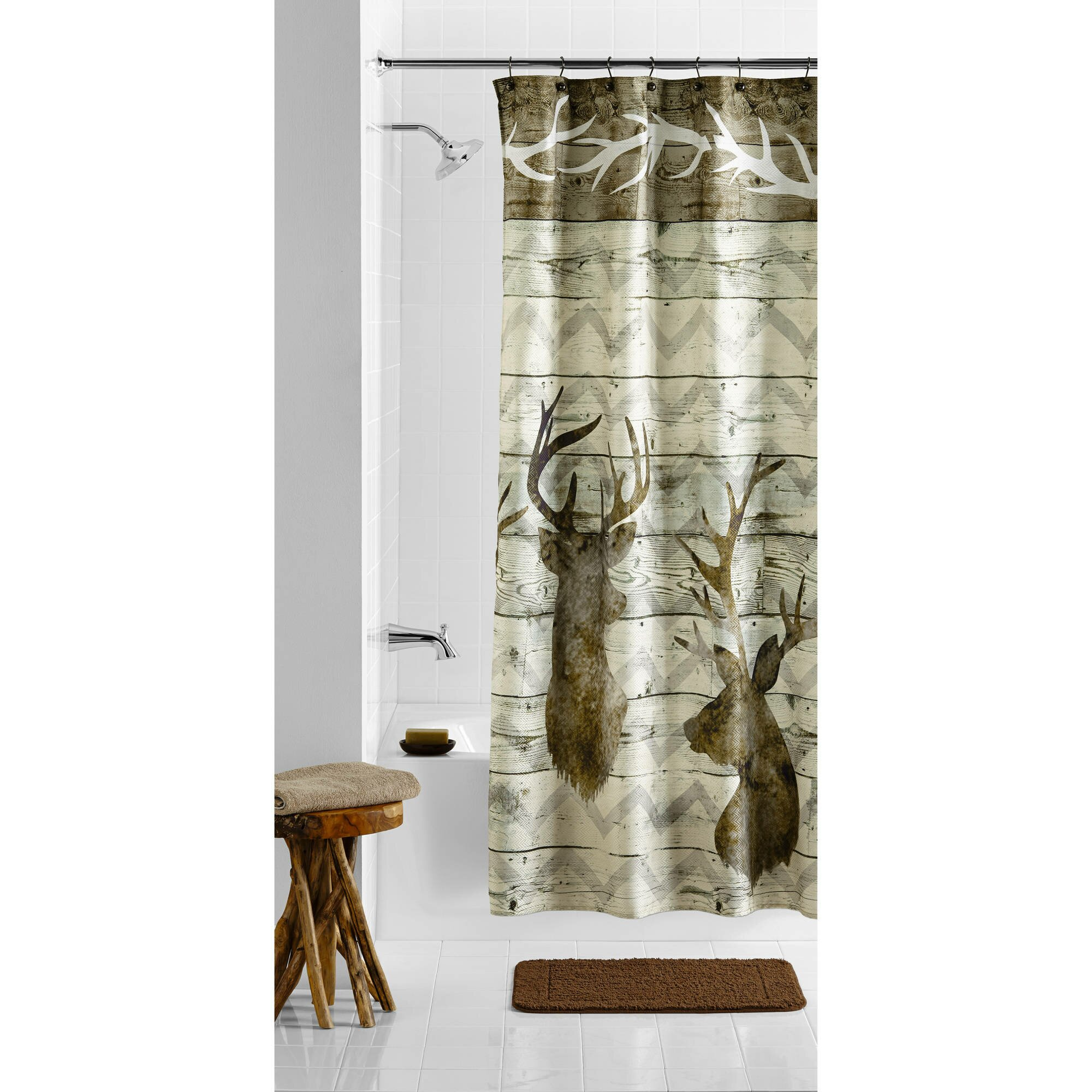 Navy Fabric Shower Curtain | Walmart Tree Shower Curtain | Walmart Shower Curtain