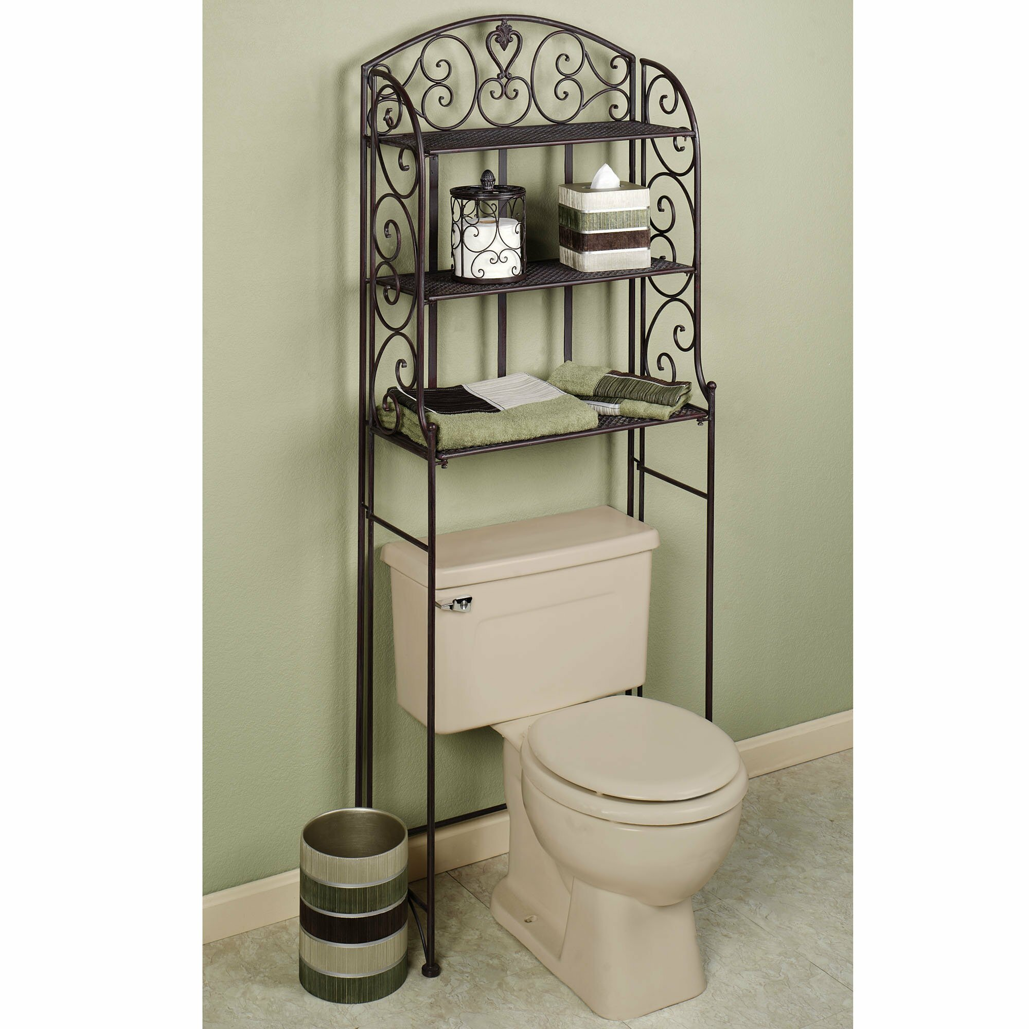Oak Bathroom Space Saver | Toilet Etagere | Toilet Topper Cabinet