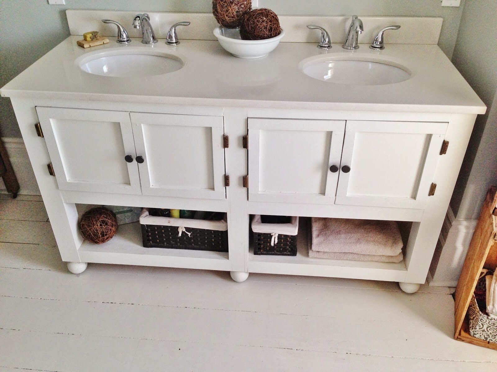 Pottery Barn Bath Vanities | Pottery Barn Vanity | Pottery Barn Classic Double Sink Console