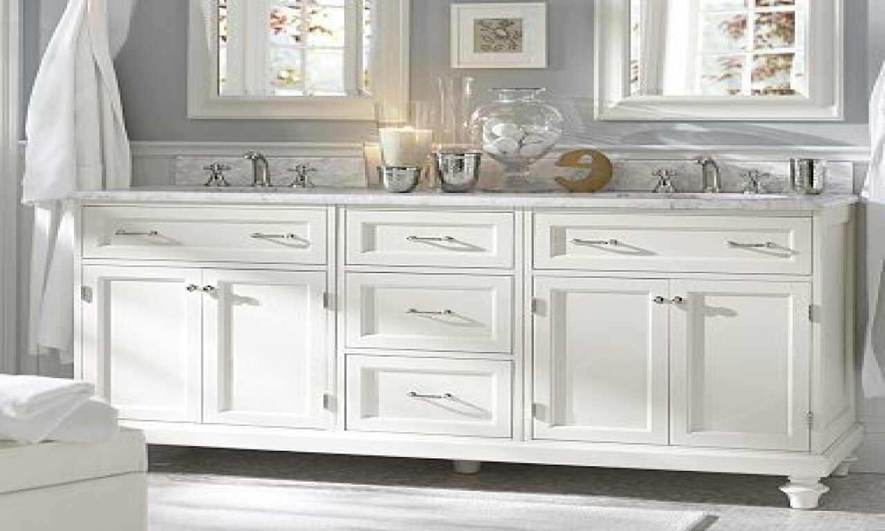 Bathroom pottery barn vanity for bathroom cabinet design ideas Design bathroom vanity cabinets