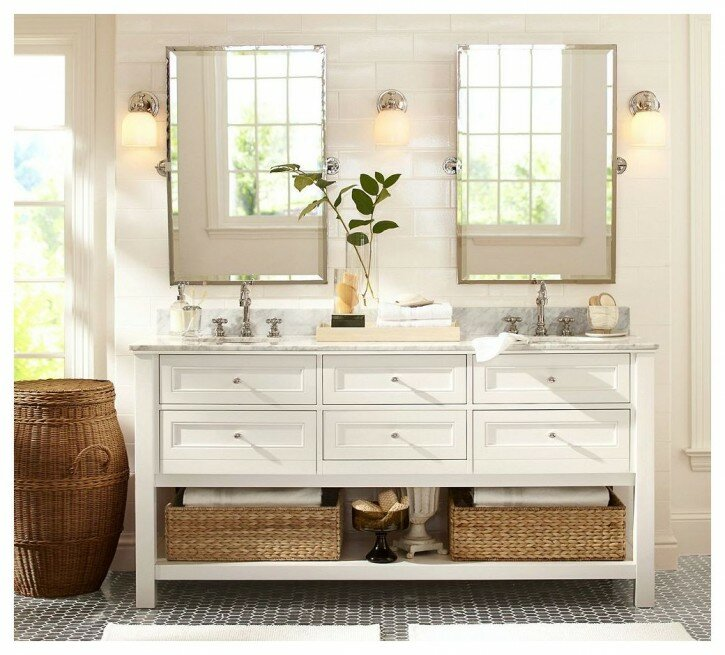 Bathroom: Pottery Barn Vanity For Bathroom Cabinet Design
