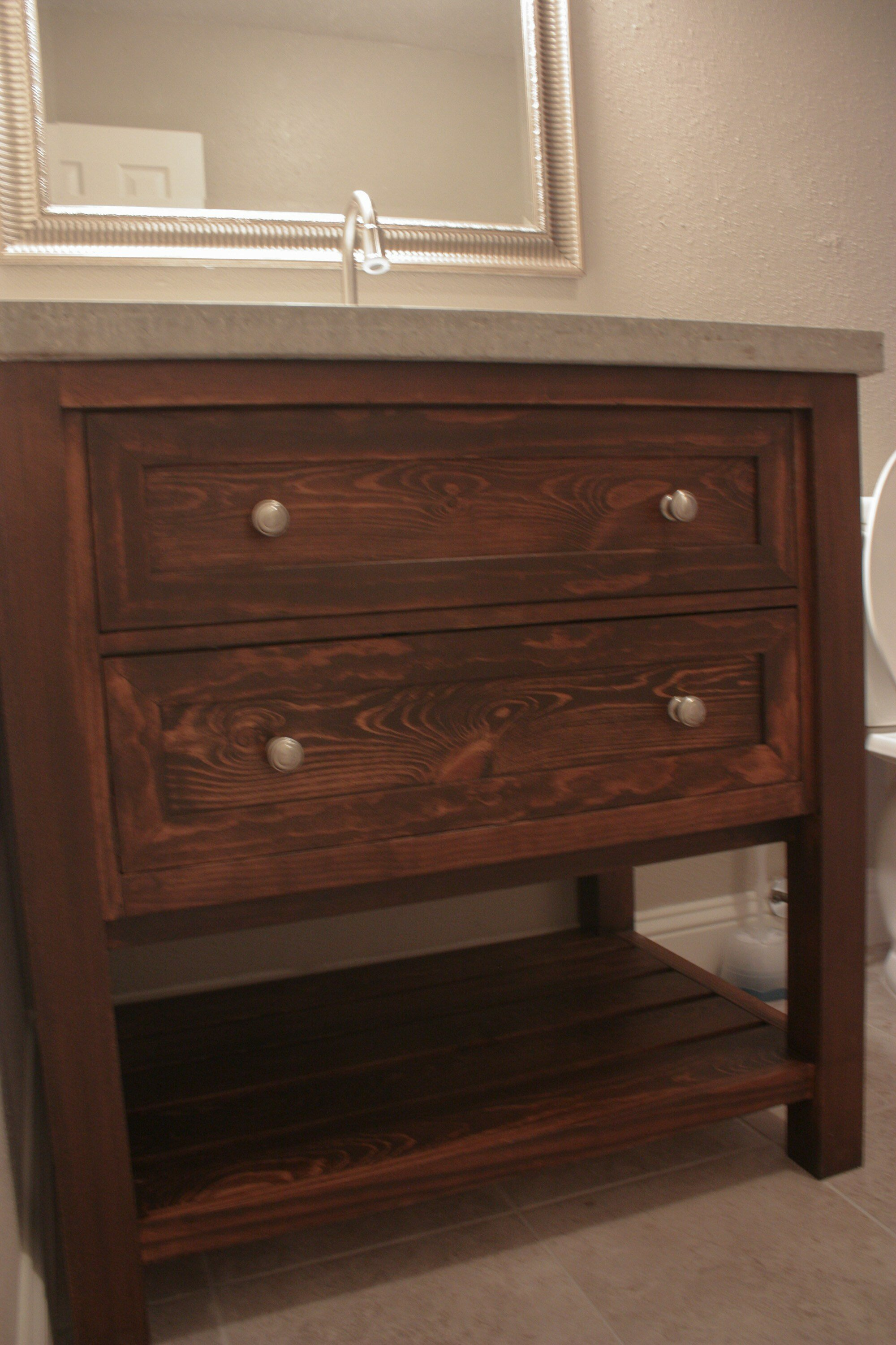 Bathroom Vanity Dresser With Mirror