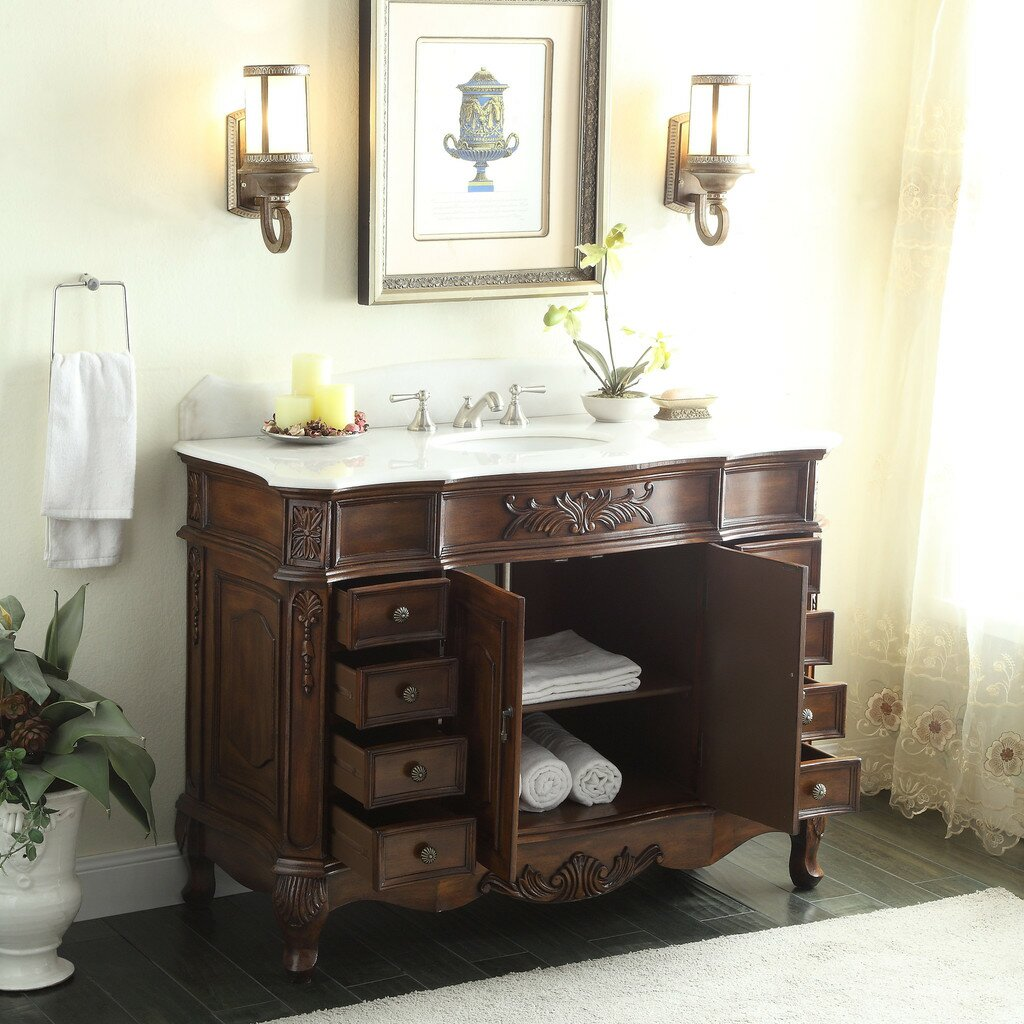 Pottery Barn Vanity | Corner Bathroom Vanity | Pottery Barn Sink Console