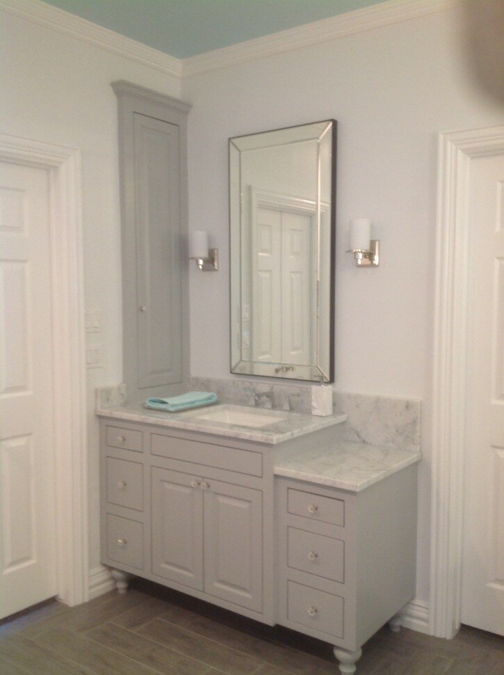 Bathroom pottery barn vanity for bathroom cabinet design for Closet vanity ideas