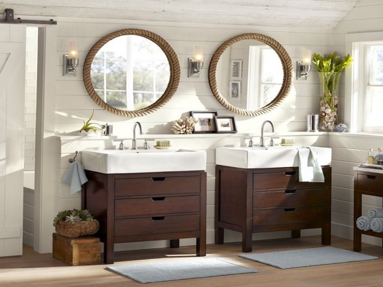 Pottery Barn Vanity for Bathroom Cabinet Design Ideas: Pottery Barn Vanity | Pottery Barn Mason Vanity | Console Sink With Shelf