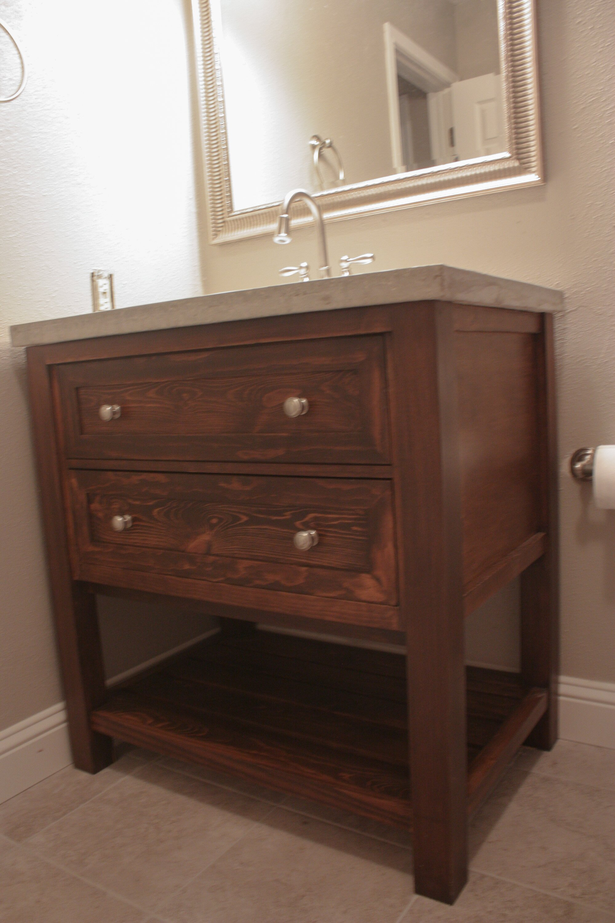Bathroom pottery barn vanity for bathroom cabinet design for Restoration hardware bathroom cabinets