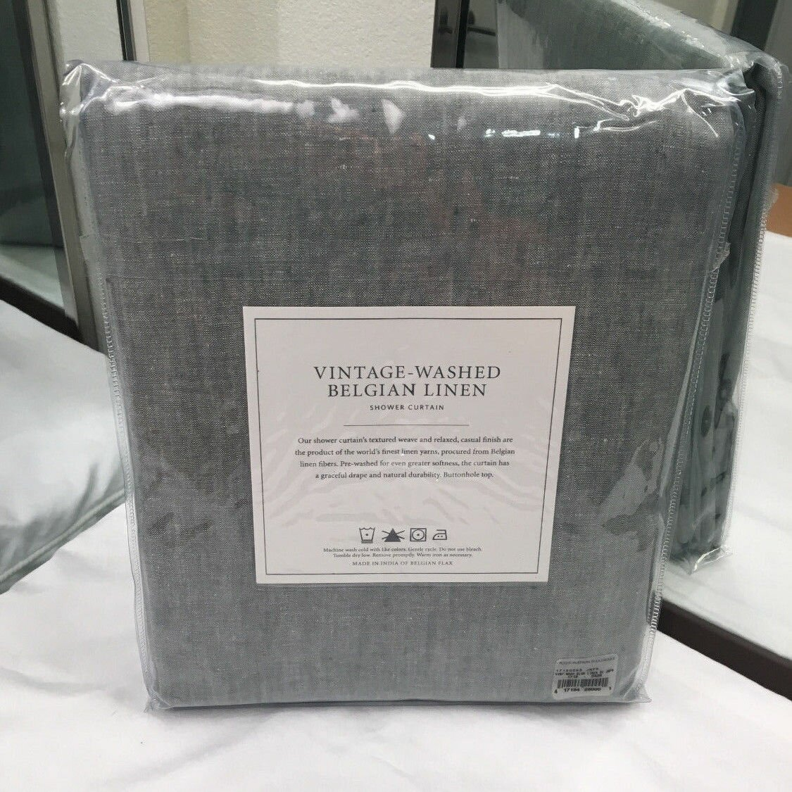 Restoration Hardware Linen Shower Curtain | Tween Shower Curtain | Restoration Hardware Shower Curtain