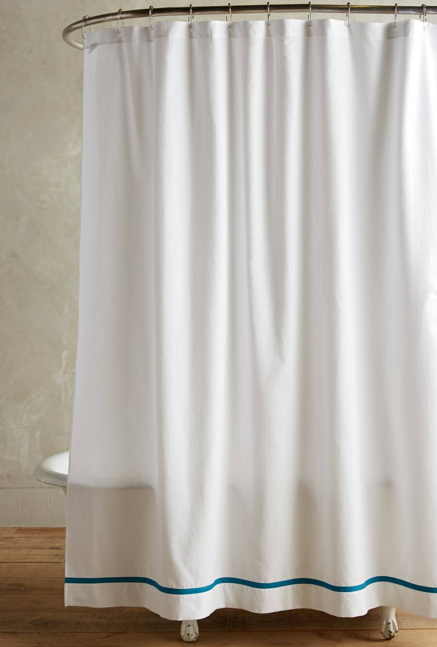 Interesting Bathroom Decor Ideas with Restoration Hardware Shower Curtain: Restoration Hardware Shower Curtain | Bathroom Curtain Rods | Restoration Hardware Drapes