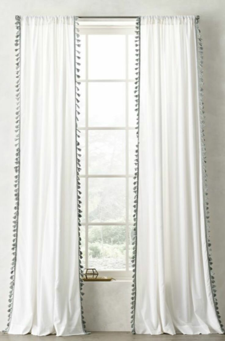 Restoration Hardware Shower Curtain | Extra Long Linen Shower Curtain | Curved Shower Curtain Rods