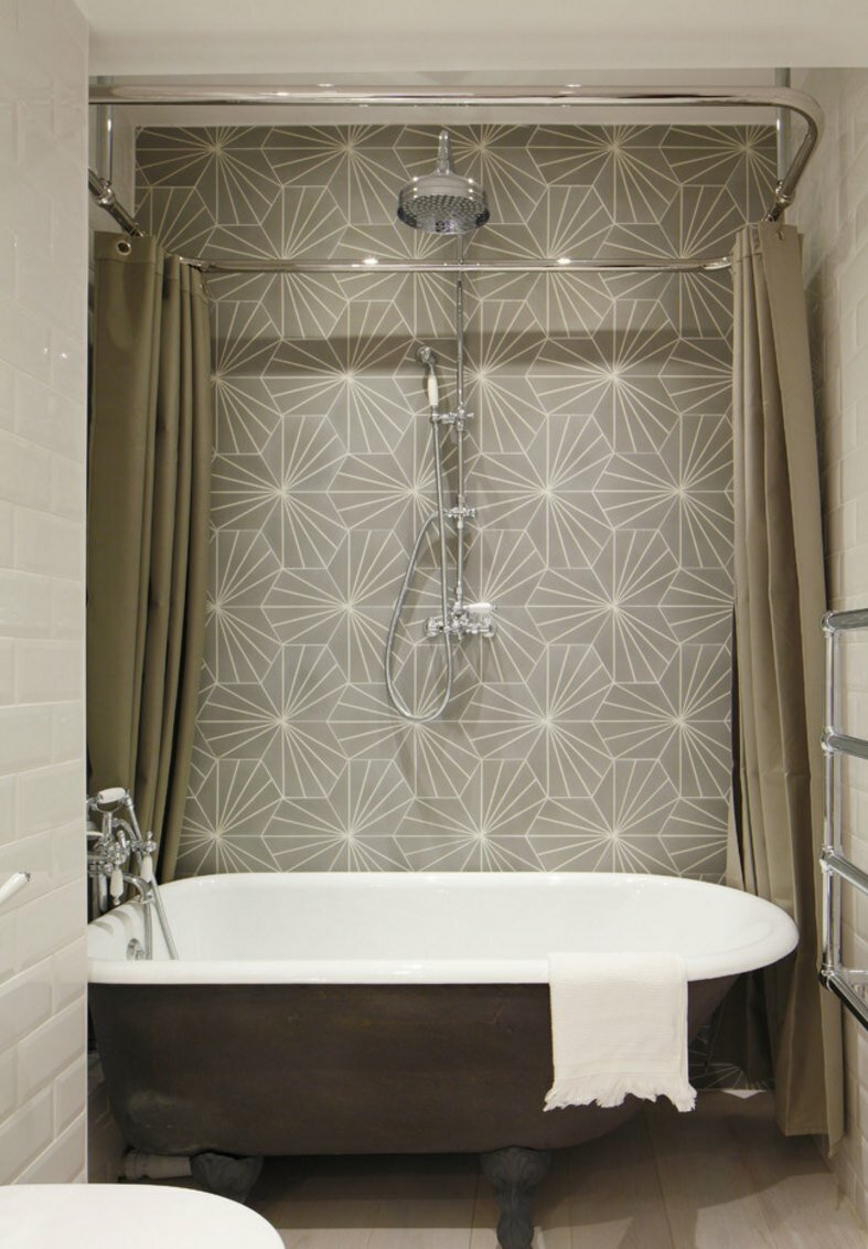 Interesting Bathroom Decor Ideas with Restoration Hardware Shower Curtain: Restoration Hardware Shower Curtain | Shower Curtains Length | Shower Rods