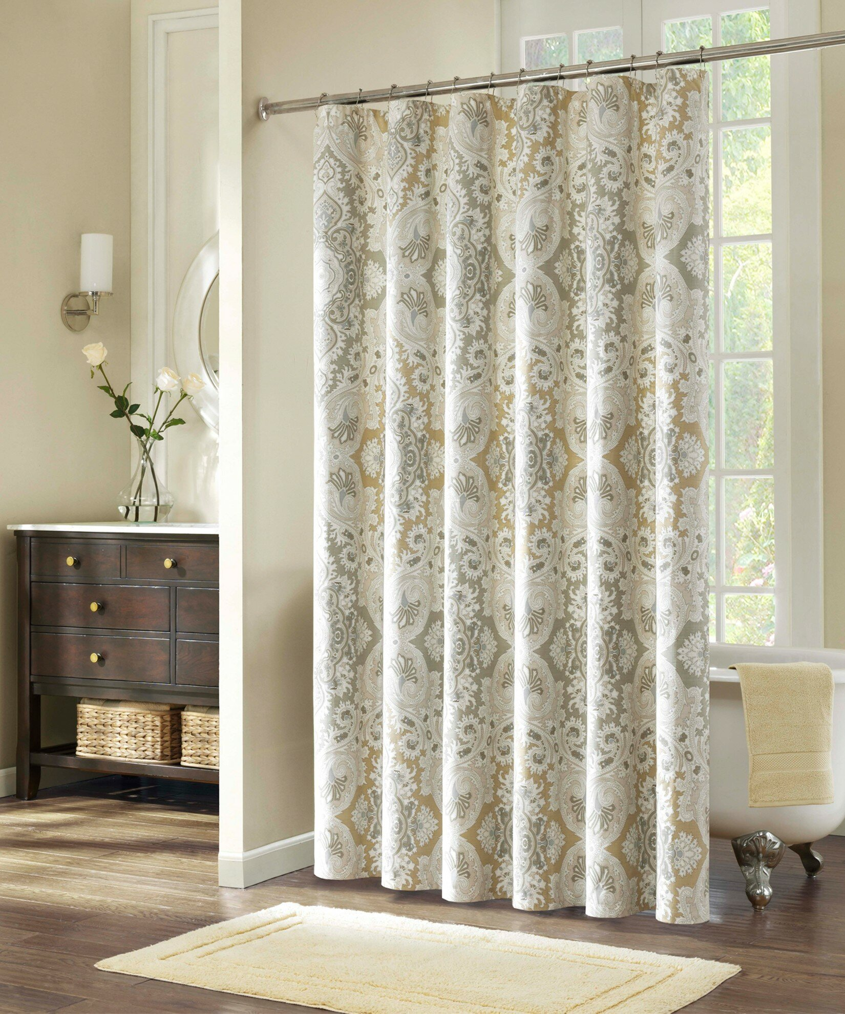Bathroom window curtains with matching shower curtain - Shower Curtain Liners Sizes Walmart Shower Curtain Corner Shower Curtain Rod Walmart