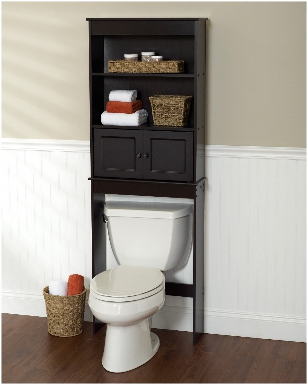 bathroom bathroom storage cabinets over toilet over the commode storage toilet etagere. Black Bedroom Furniture Sets. Home Design Ideas