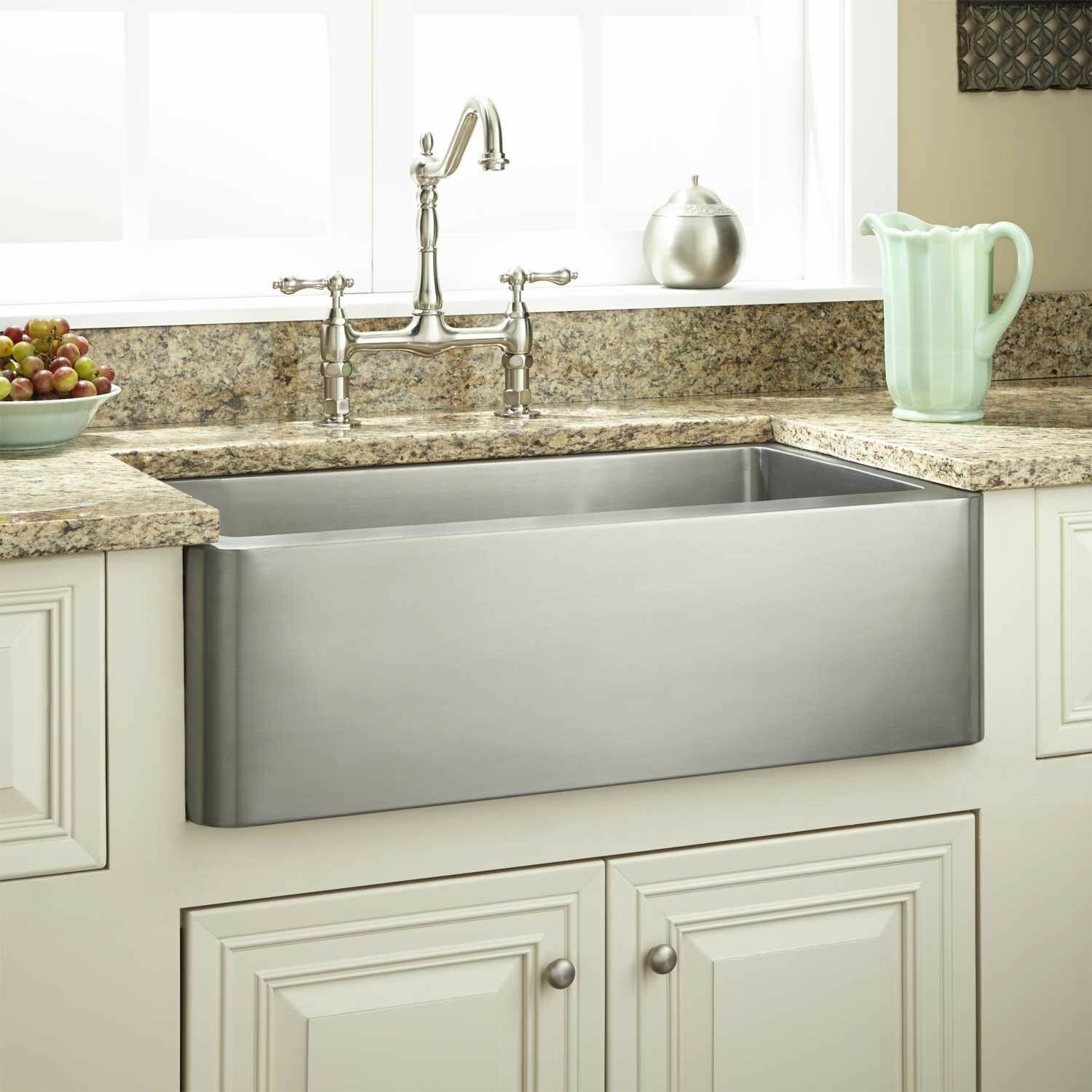 kitchen drop in stainless steel kitchen sink best gauge for