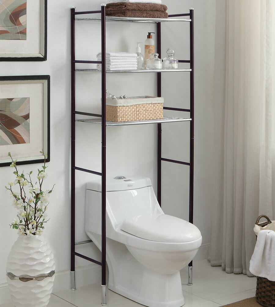 Bathroom: Toilet Etagere | Space Saver Bathroom Shelves | Space ...