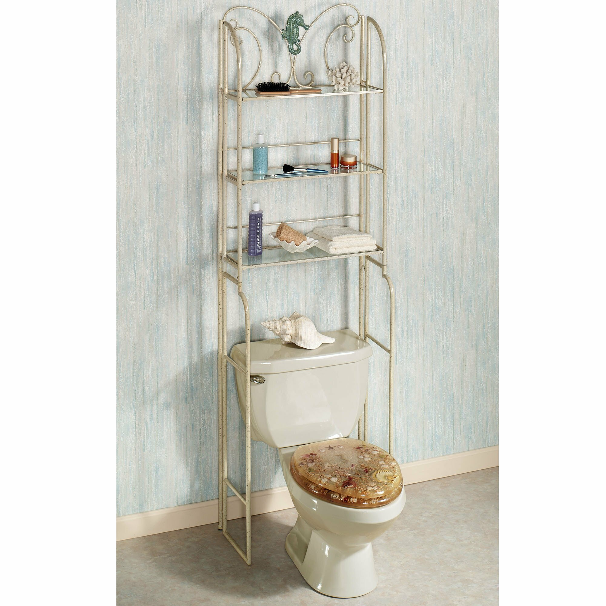 Bathroom: Etagere Cabinet | Toilet Etagere | Bathroom Shelves Over ...