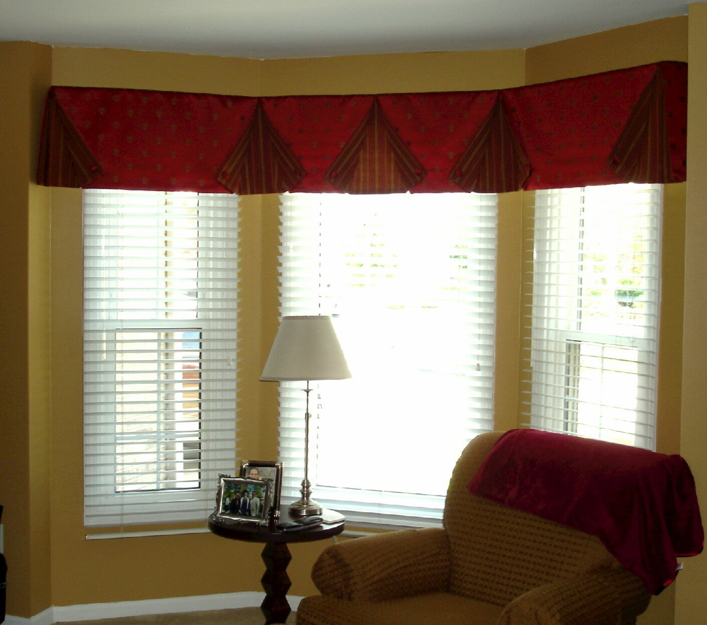 pleated pinterest coverings best window damask valance images black valances smith custom dining on in goblet room