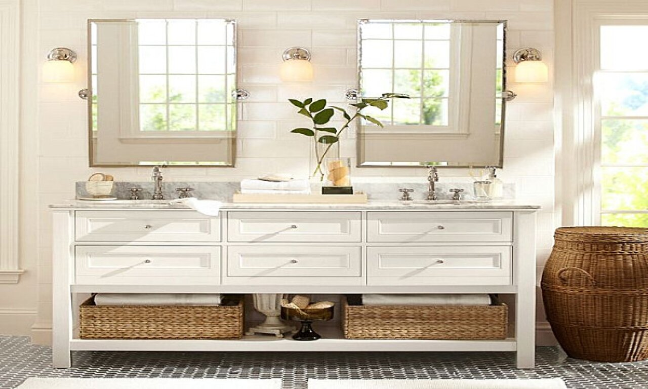 bathroom: 54 inch bathroom vanity single sink | pottery barn