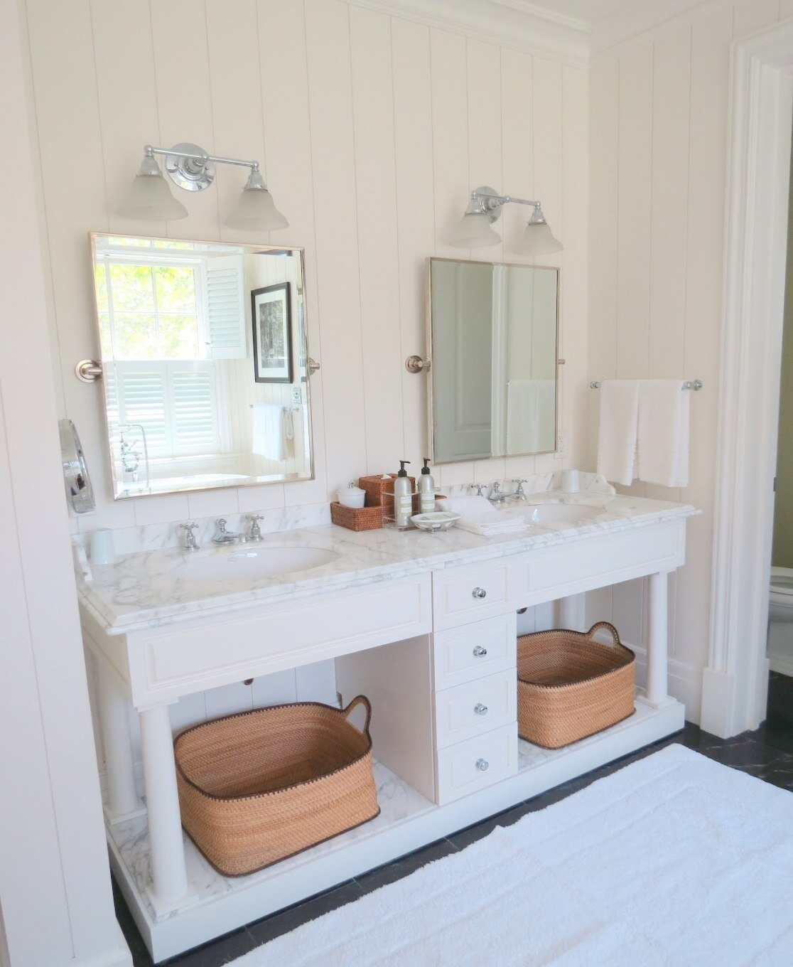 Barn Light Bathroom Vanity: Bathroom: Pottery Barn Vanity For Bathroom Cabinet Design